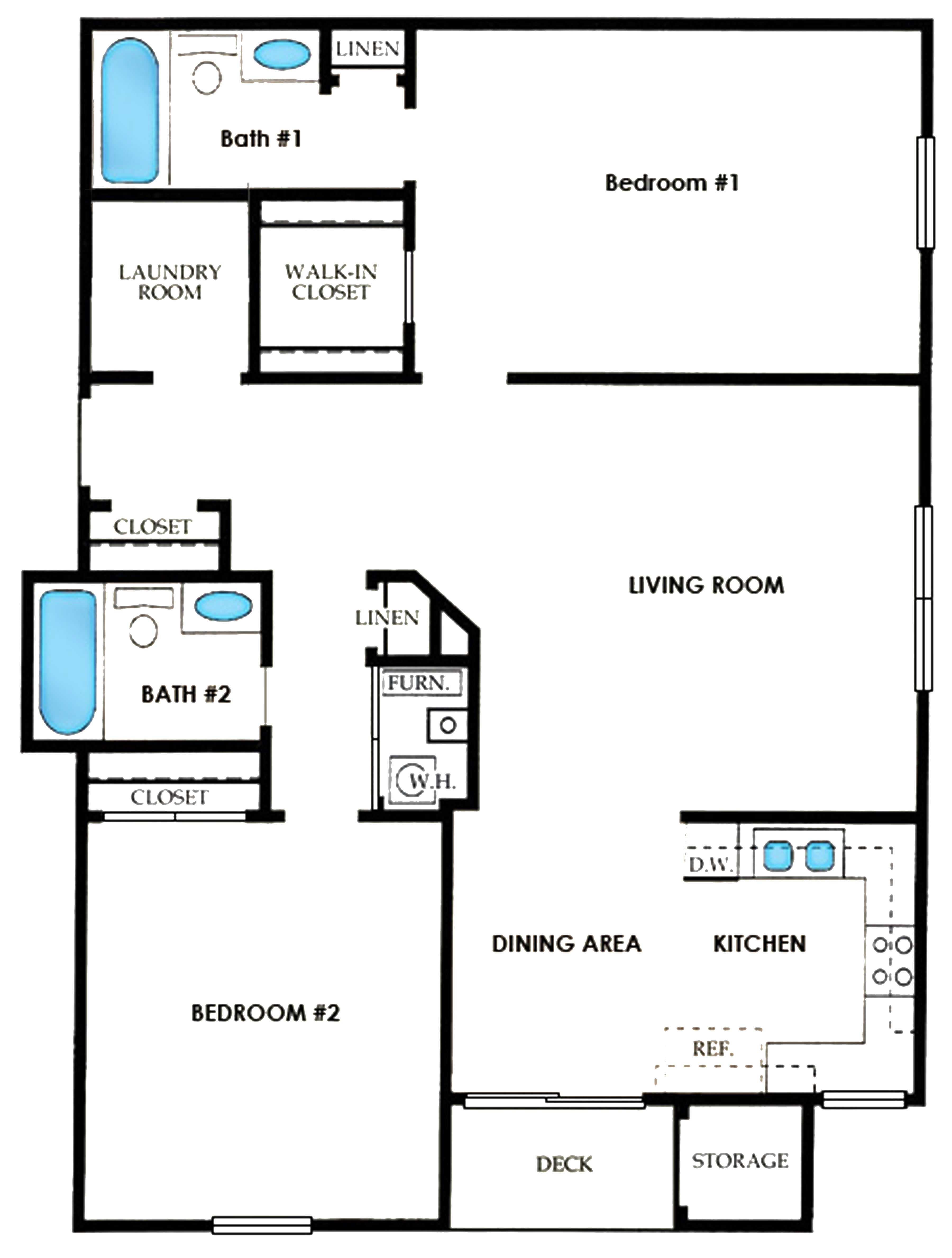 Here's the floor plan for the condo!