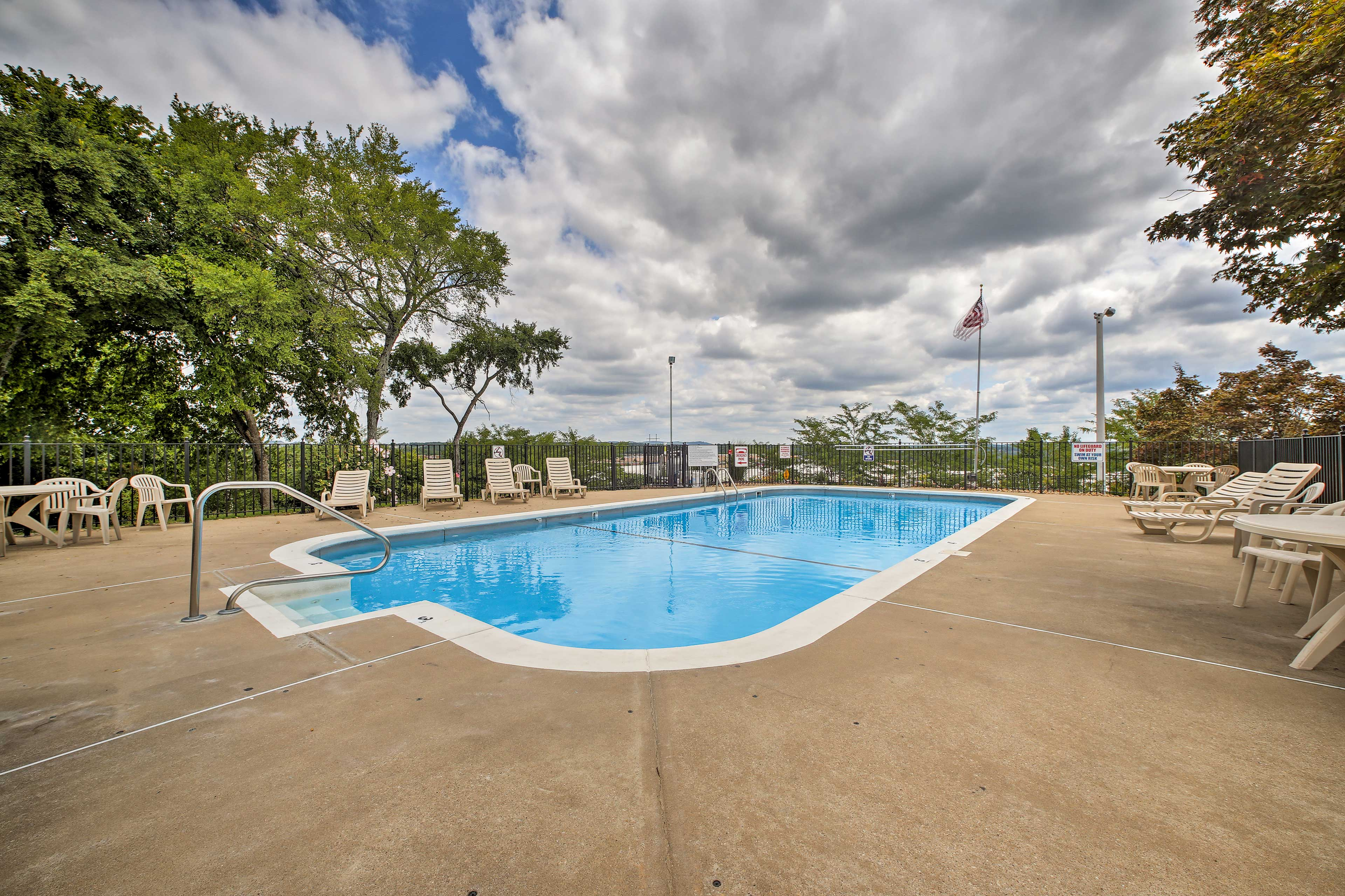 Go for a dip in the community pool on hot days!