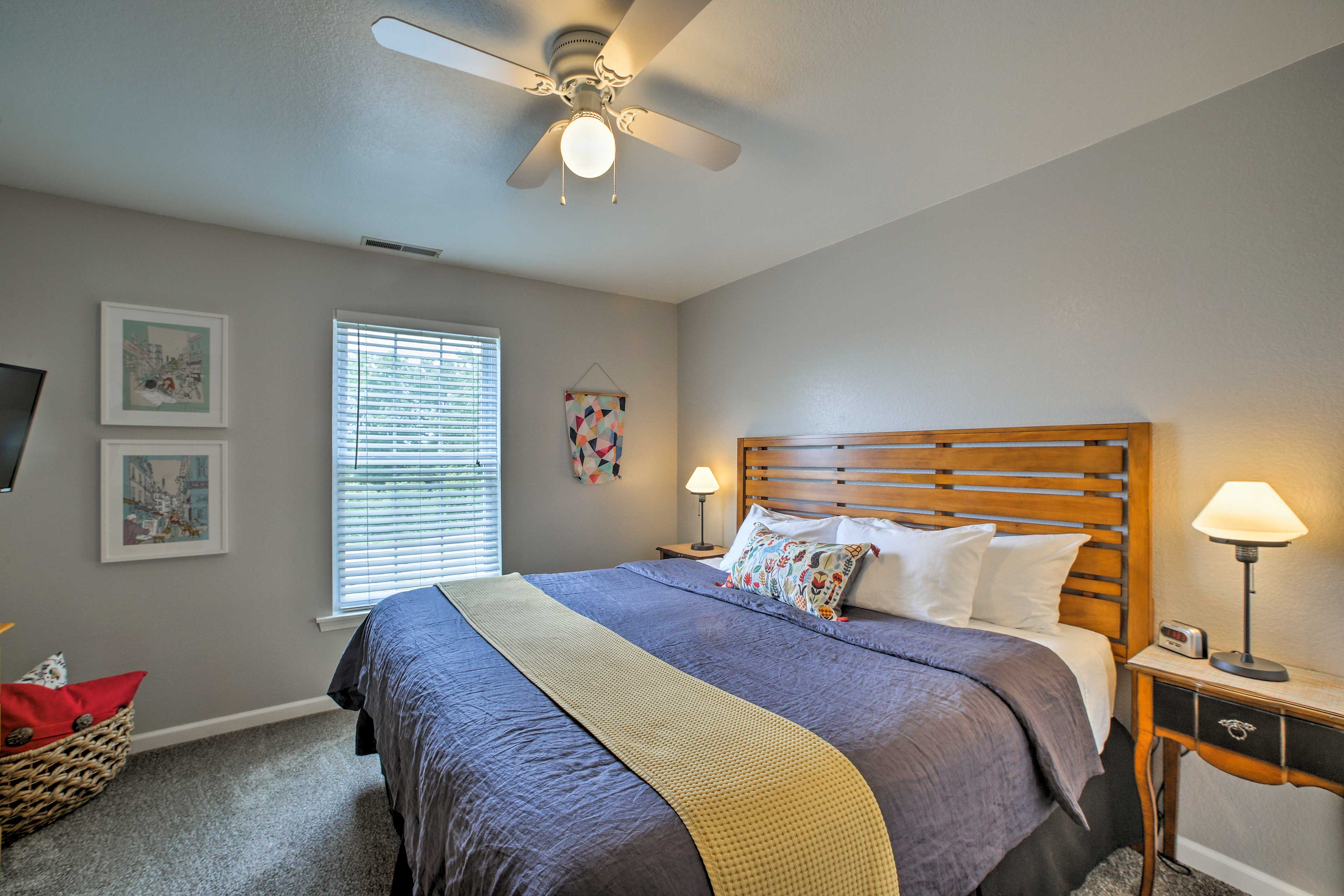 You'll find another king bed in this room.