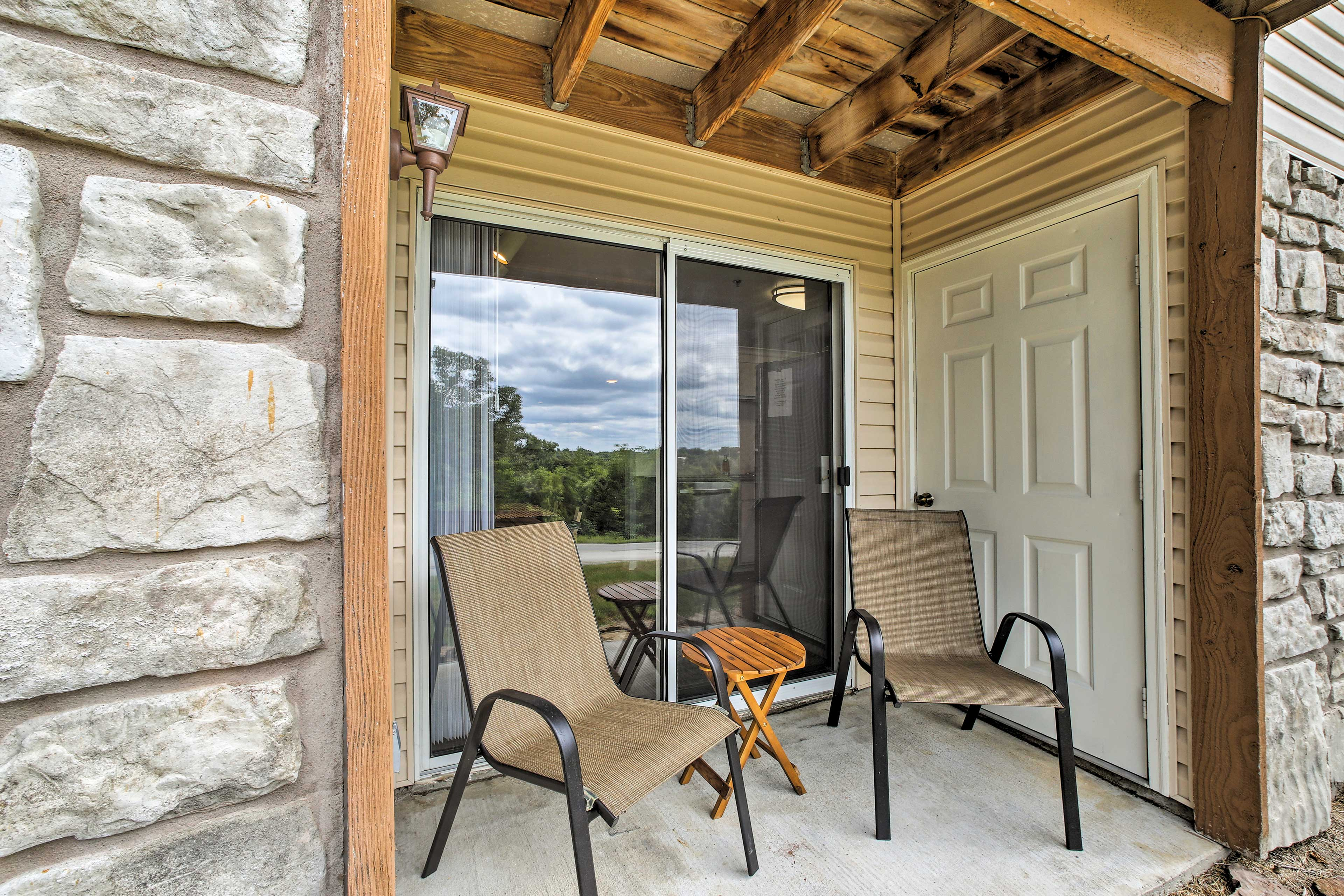 Step outside to get some fresh air on your private patio!