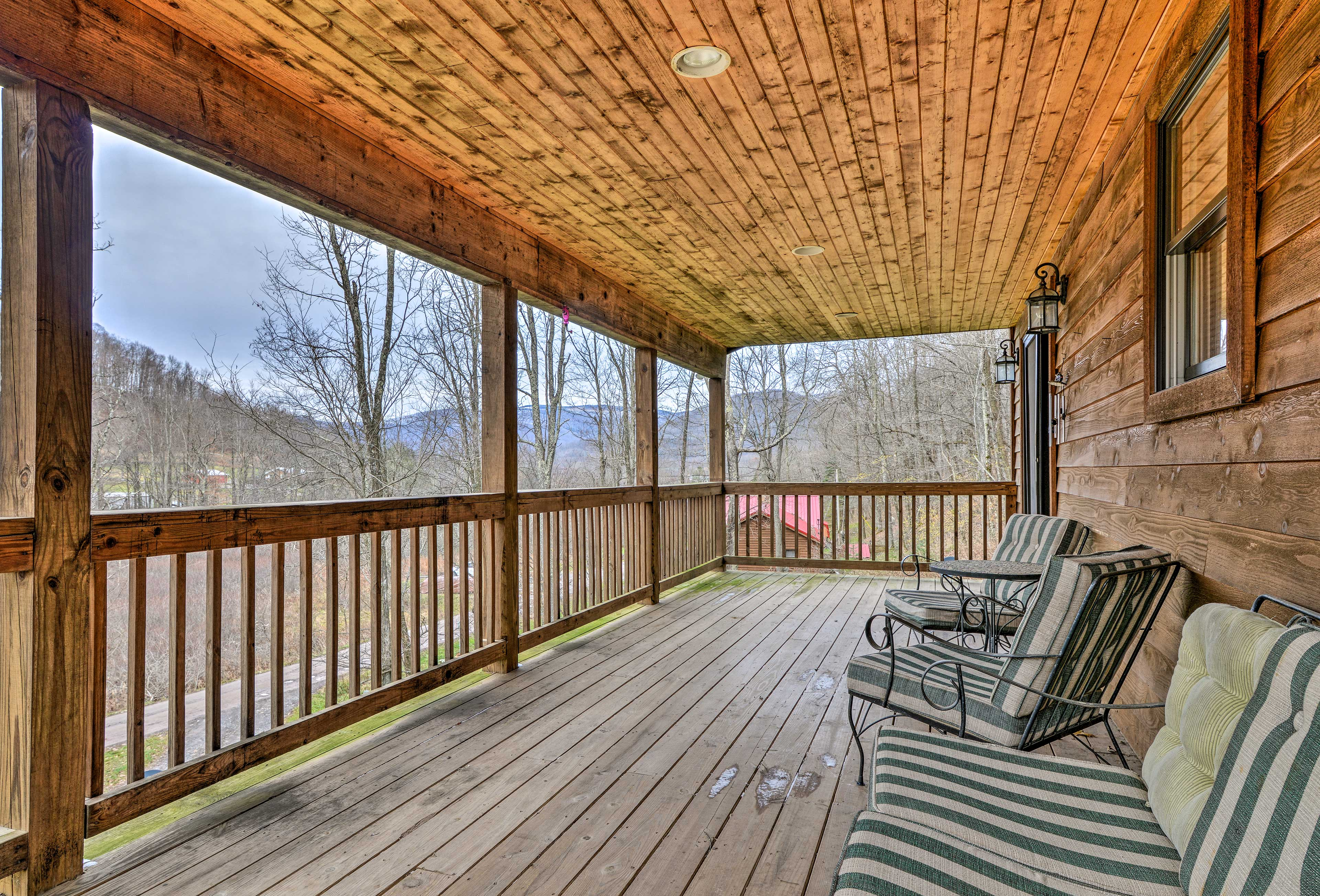 Six guests will enjoy this secluded cabin with plenty of excitement in the area!