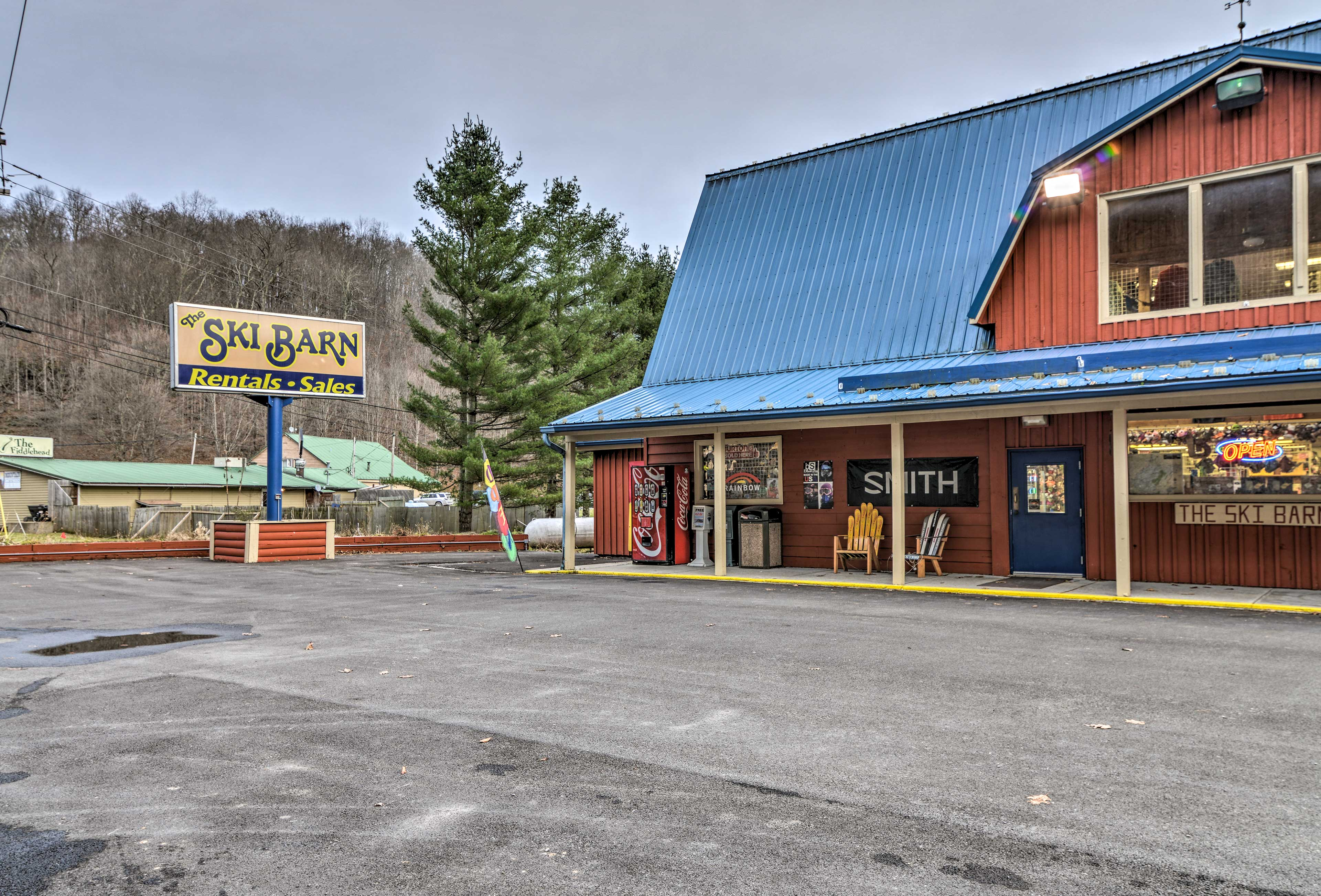 No skis? No problem! Head over to The Ski Barn for a great deal on rentals.