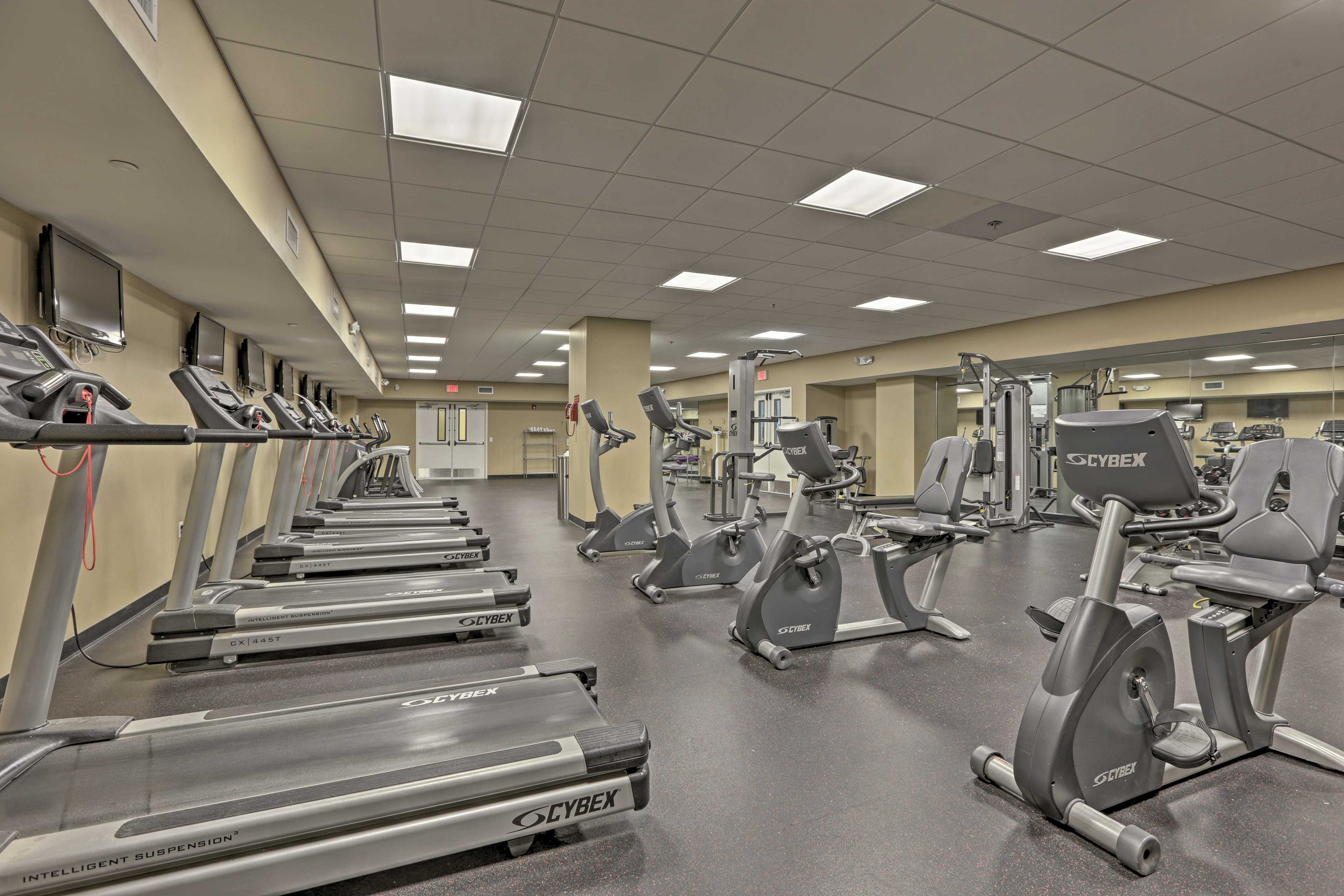 If you'd like to stay fit, get a workout in at the fitness room.