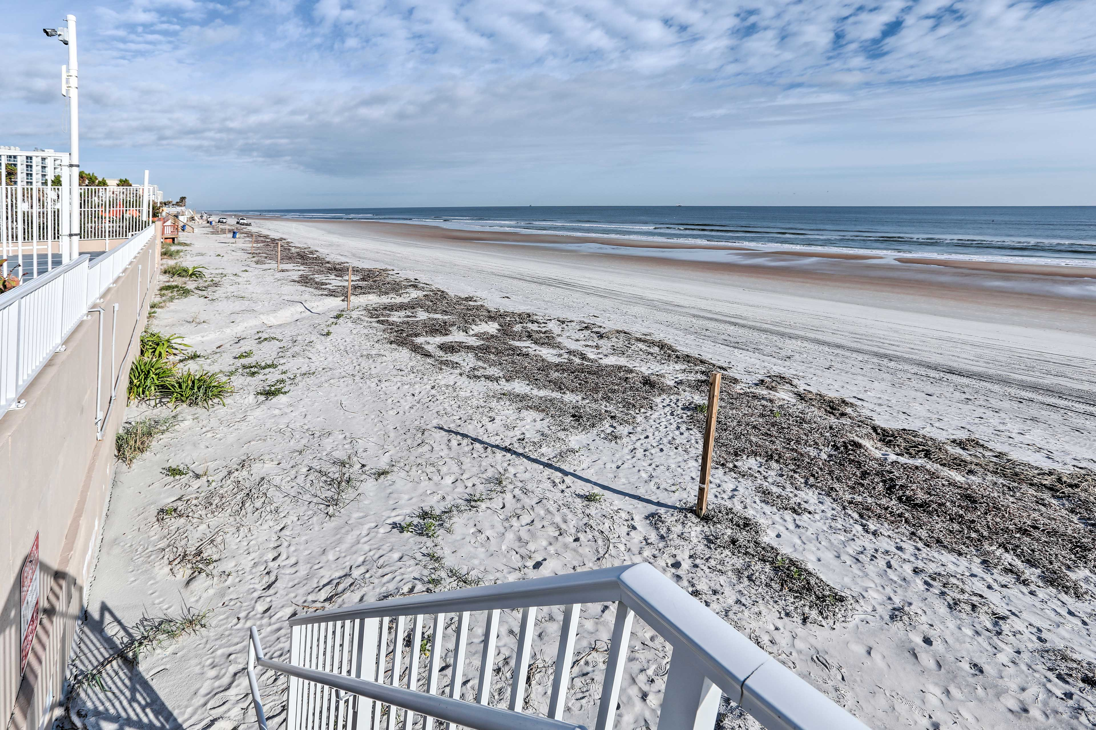 This beachfront condo is just steps to the Atlantic Ocean!