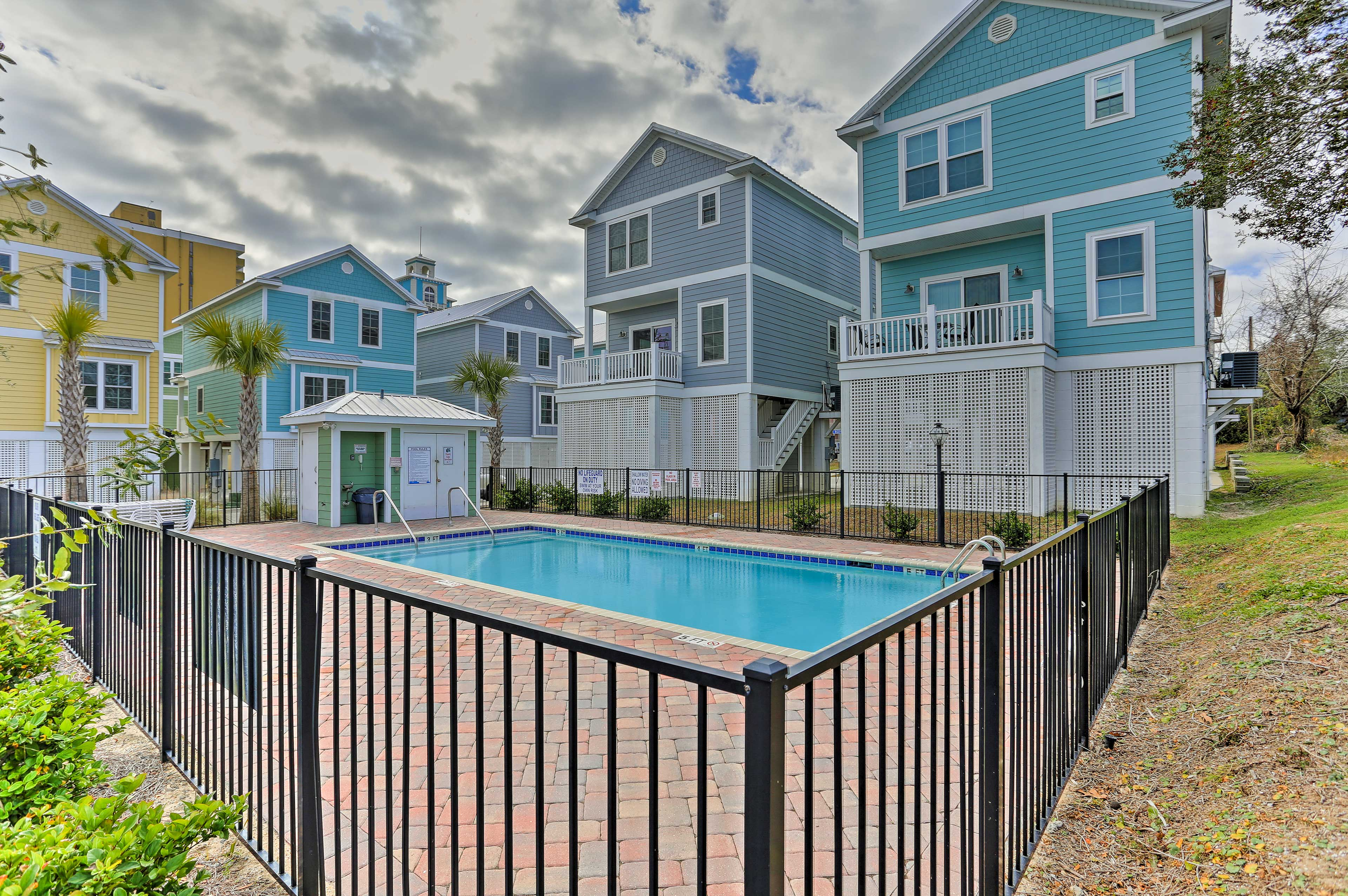 Myrtle Beach awaits your arrival at this colorful vacation rental house!