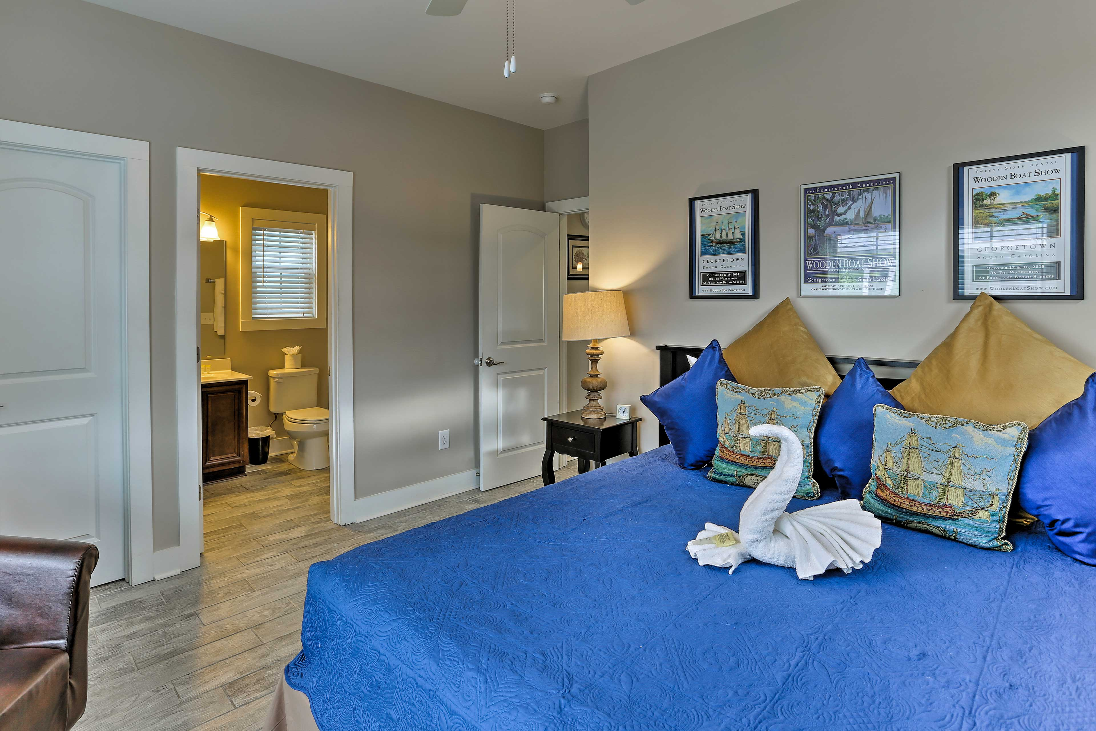 Retreat to one of the 4 bedrooms for a peaceful night's sleep.