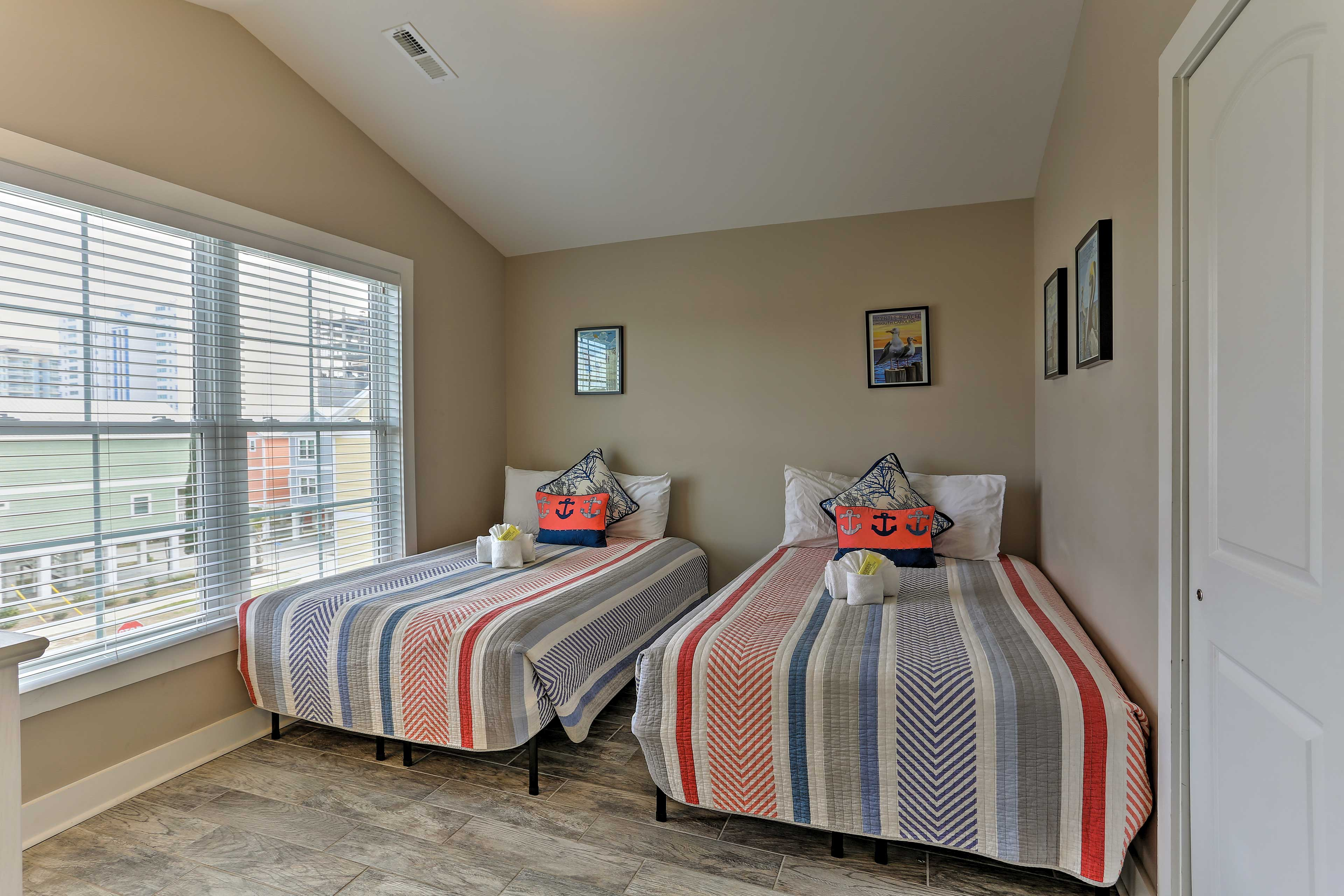 Children or siblings will rest peacefully in the 2 full beds.