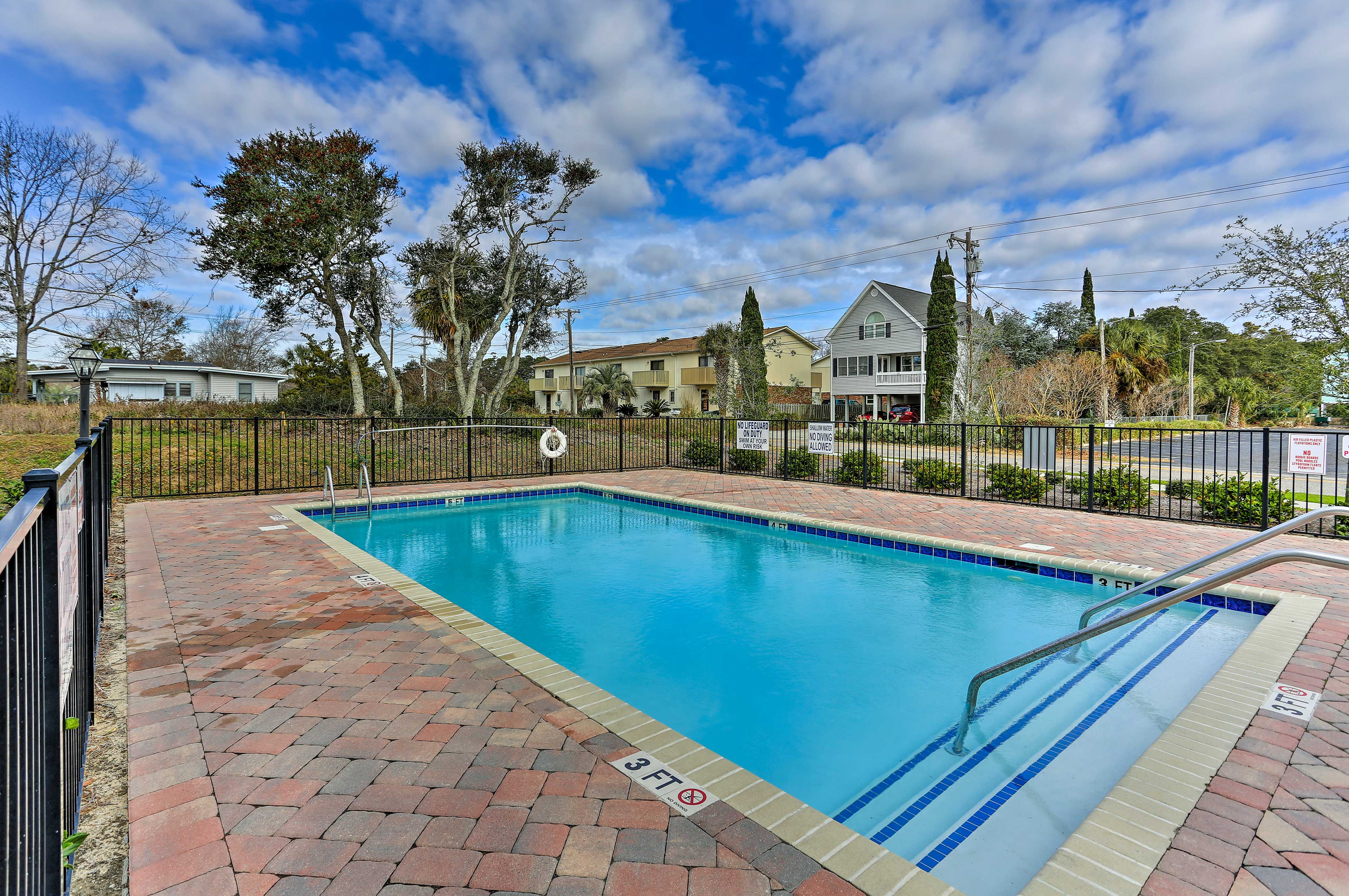 You'll love having this sparkling pool directly behind the home.
