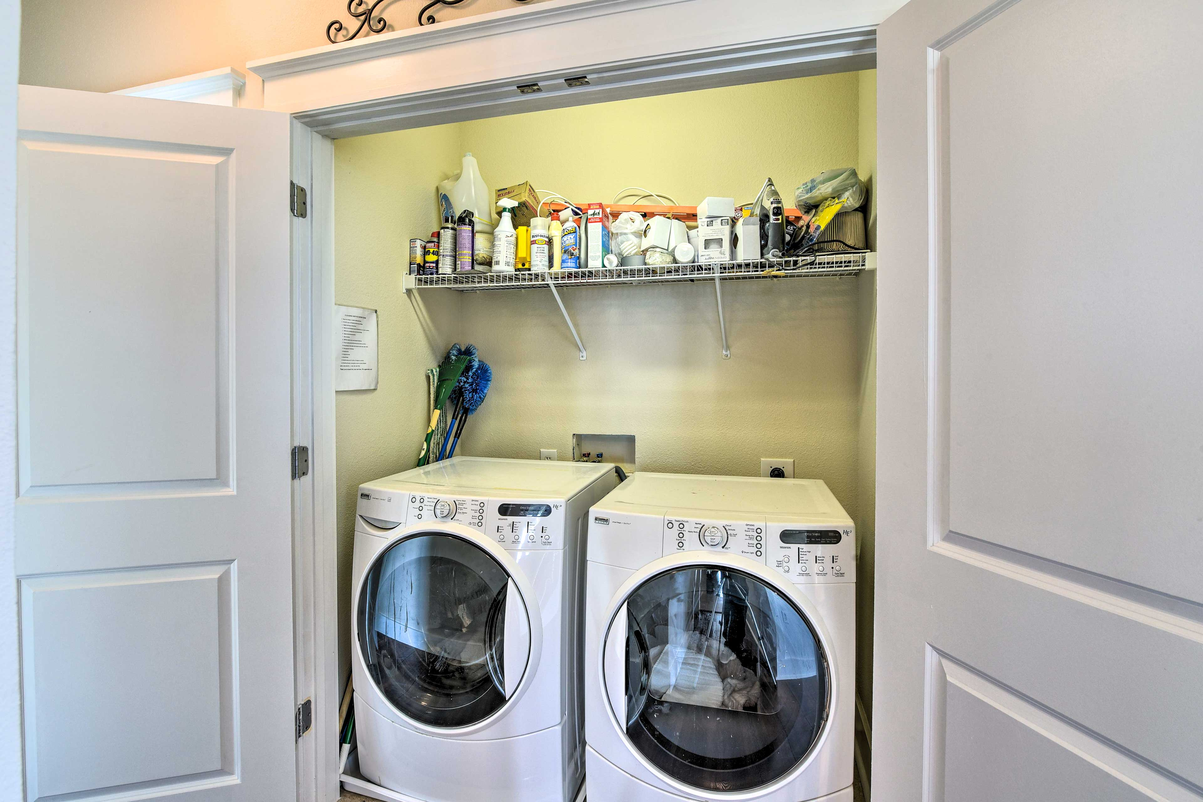 In-uni laundry adds a convenient touch.