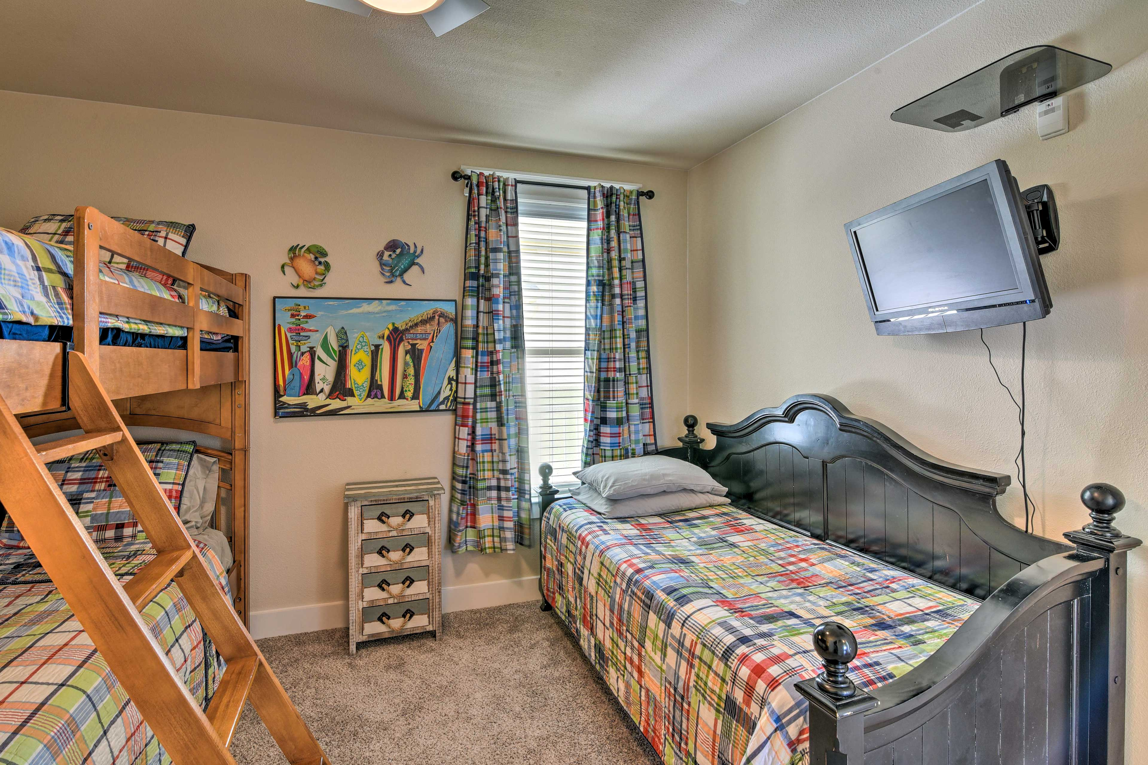 Siblings and friends will love sharing this room.