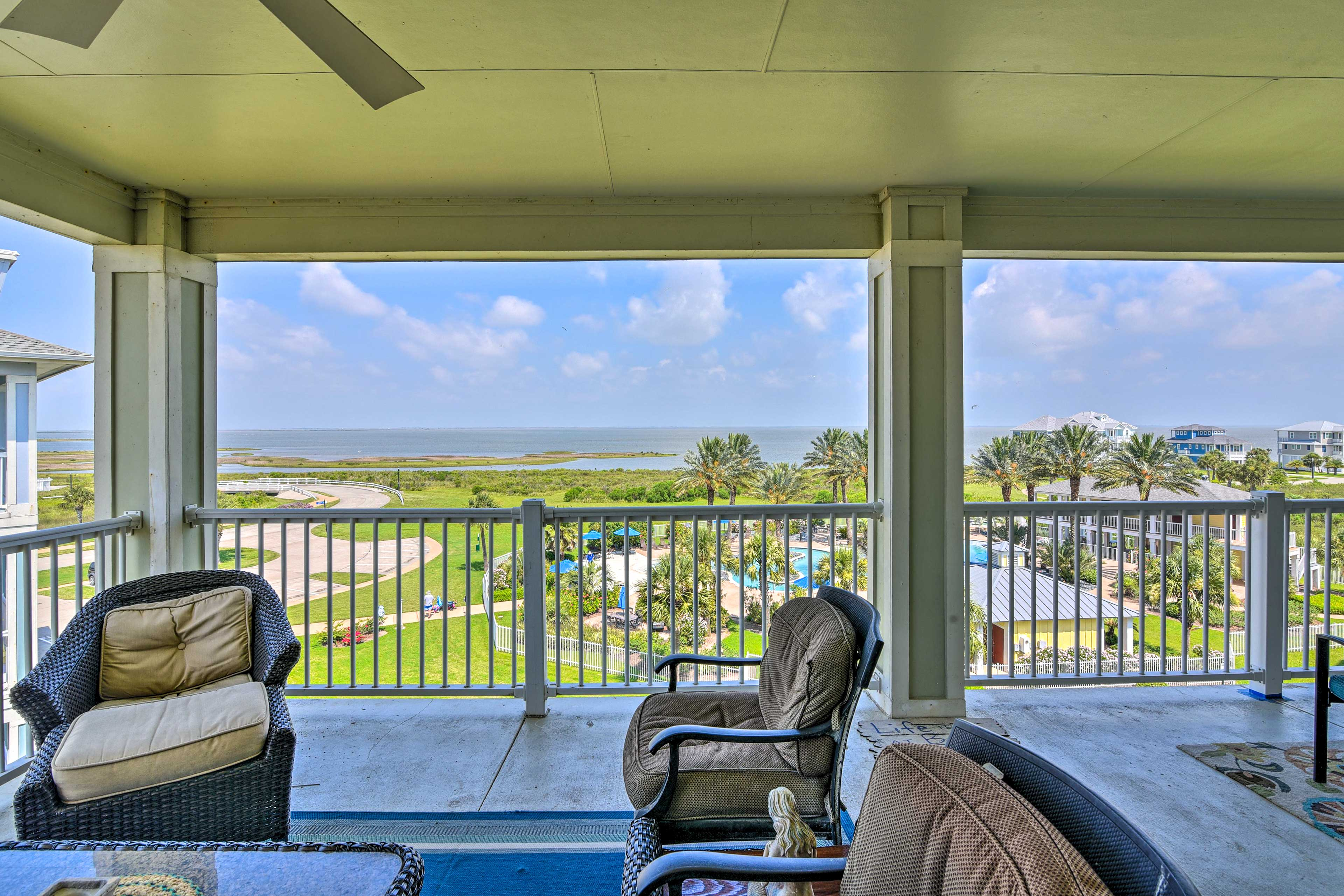 Spend leisurely days on the expansive furnished deck.