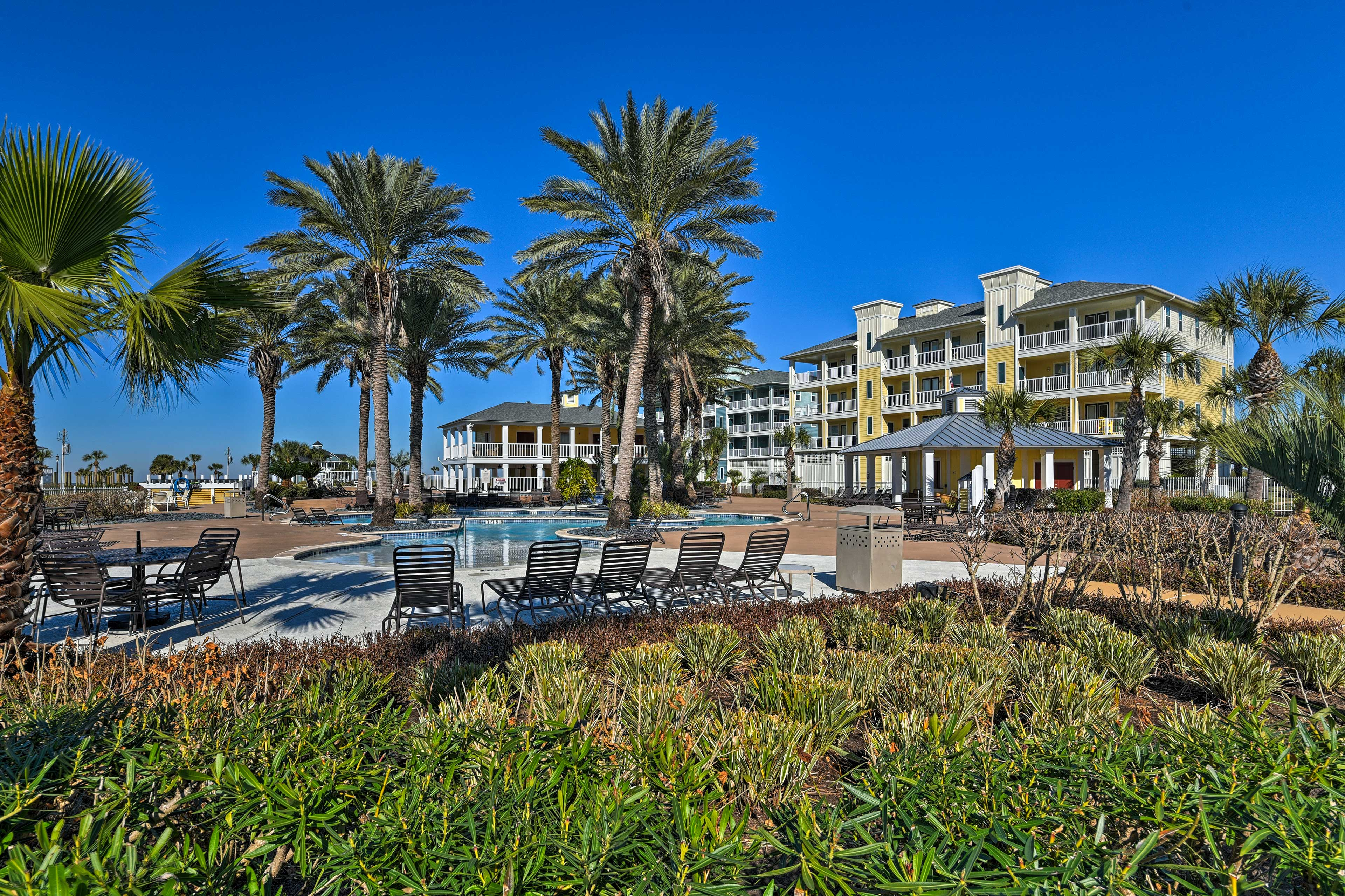 Located within the Pointe West Beach Club, you'll have access to several pools.