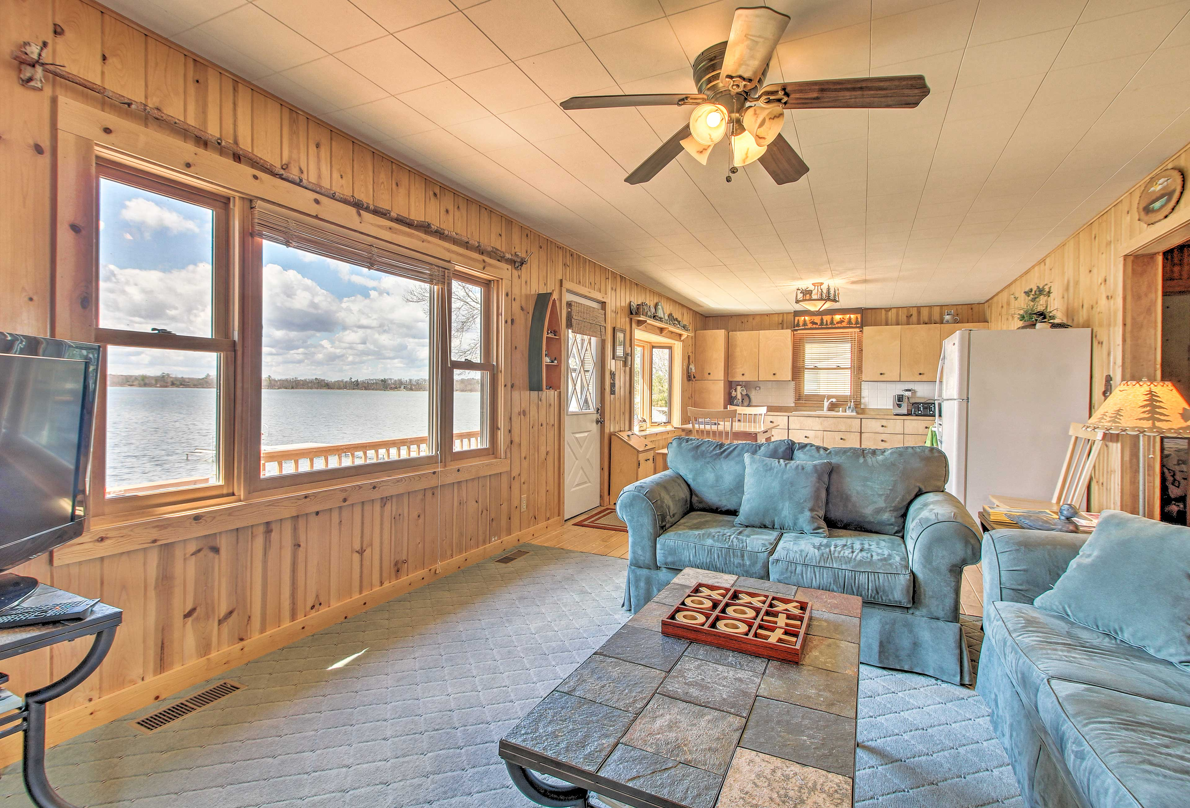 You'll have lake views from the comfort of the living room.