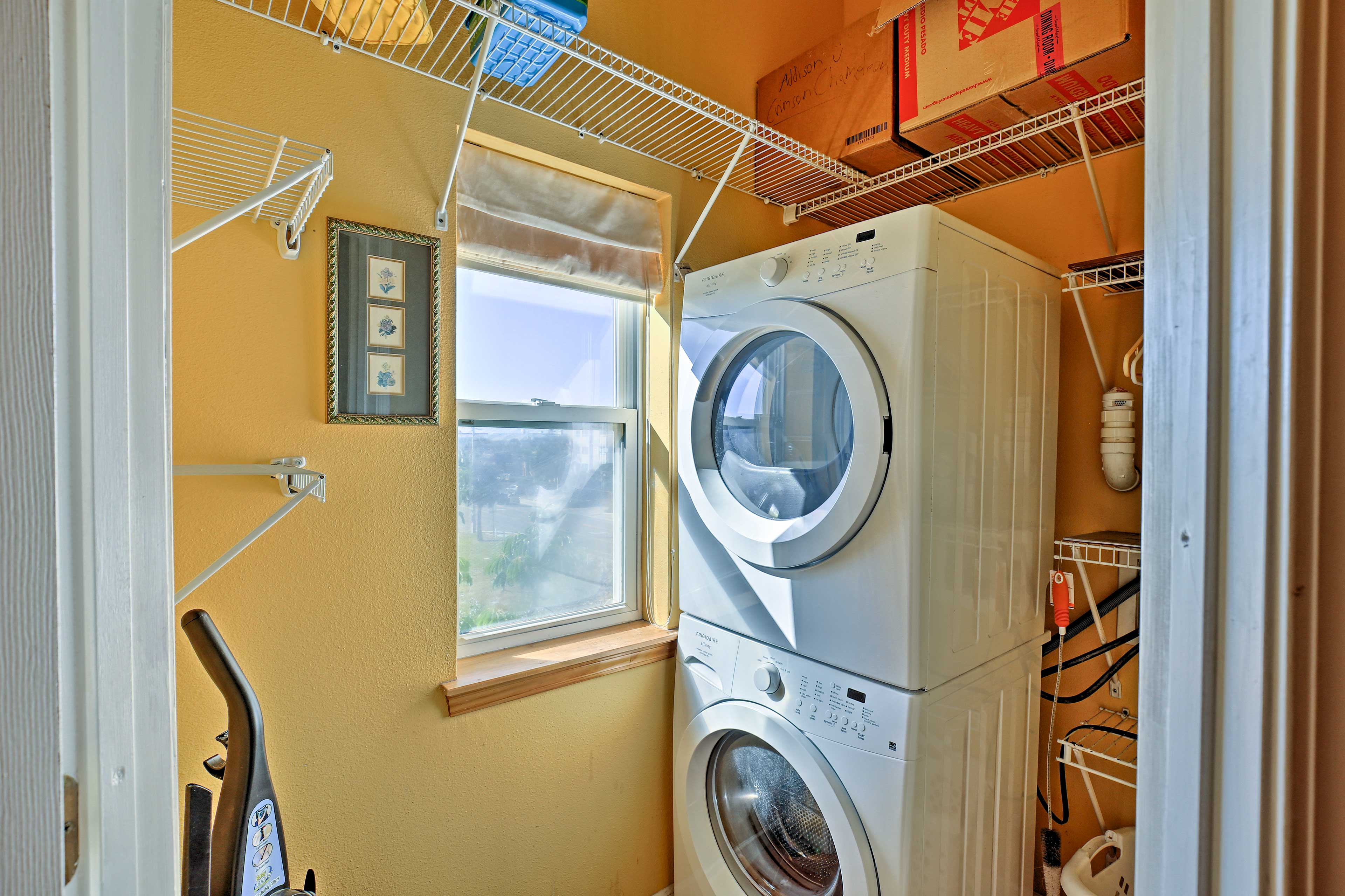 Keep those swimsuits clean with a quick wash in the in-unit laundry machines.