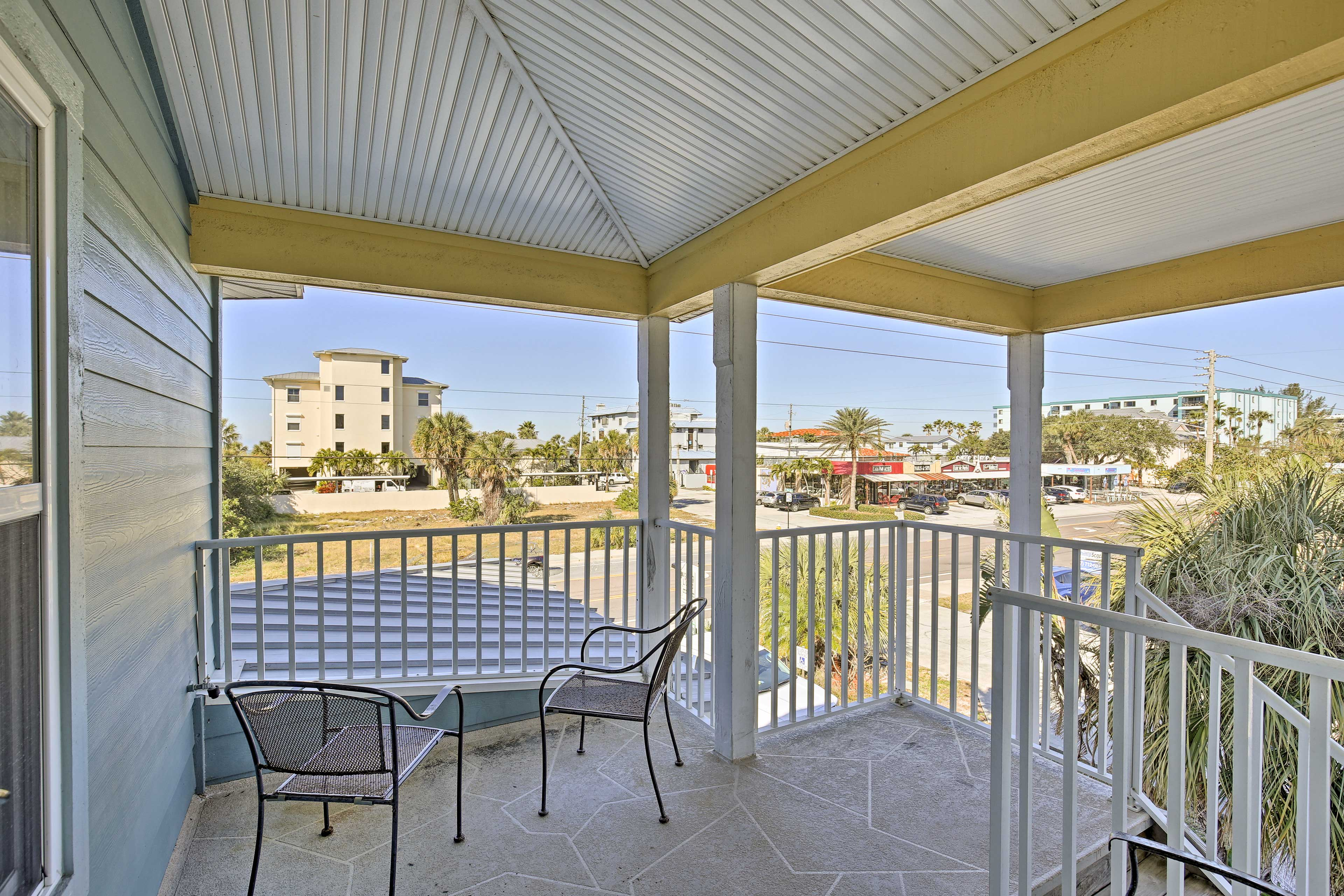 Breathe in that fresh sea breeze from the private front porch.