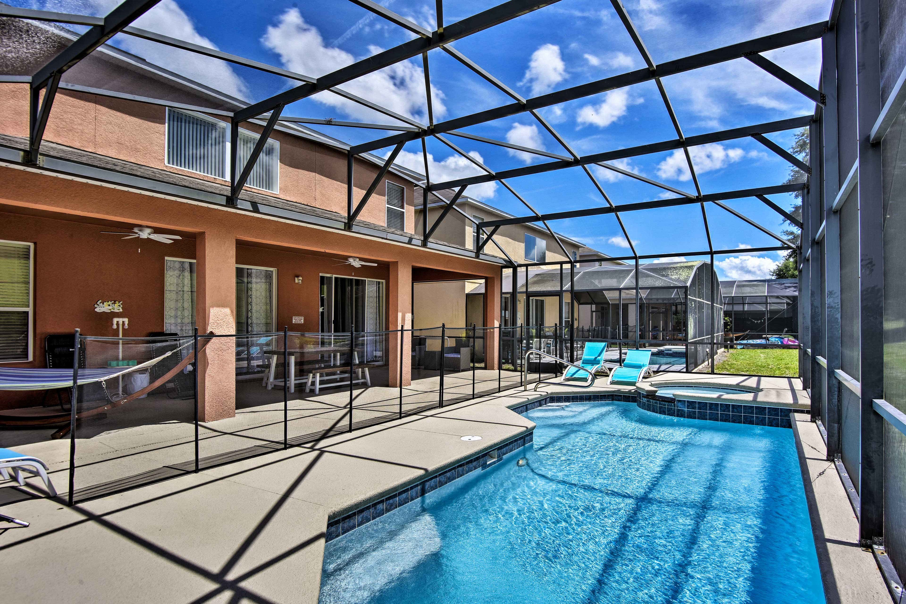 Escape to Kissimmee and stay at this luxurious vacation rental house.