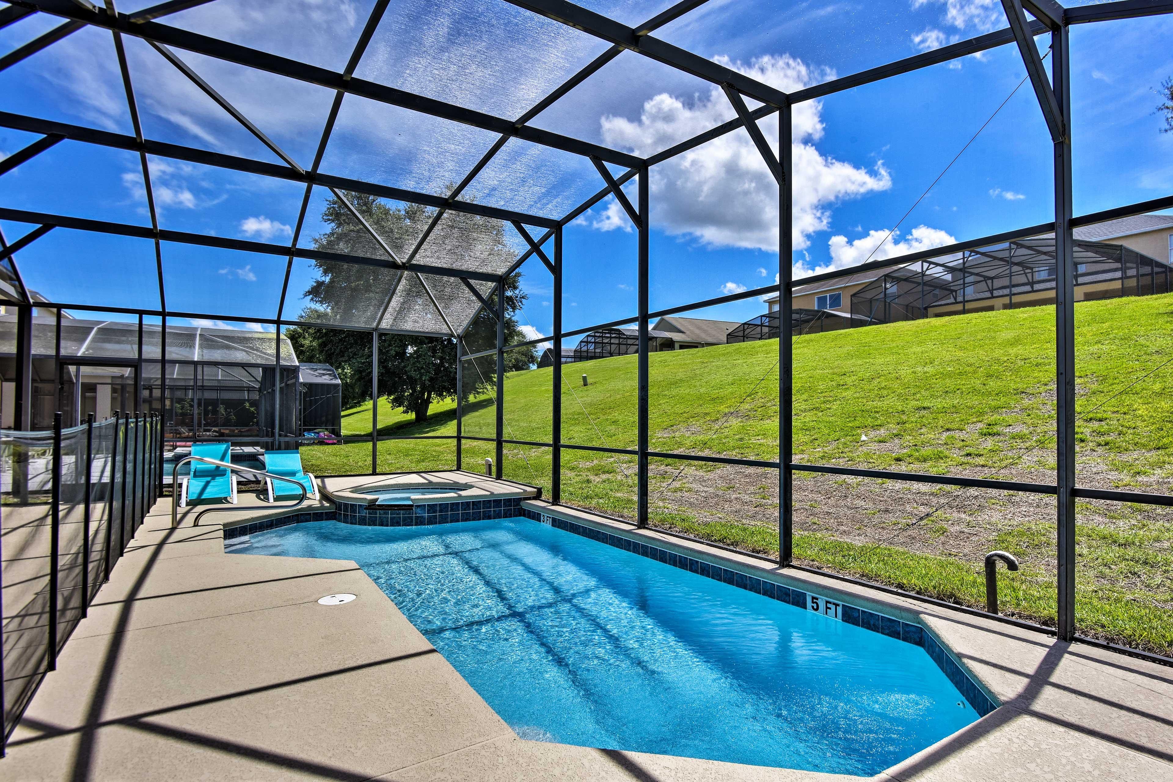 Take a refreshing dip in the pool.
