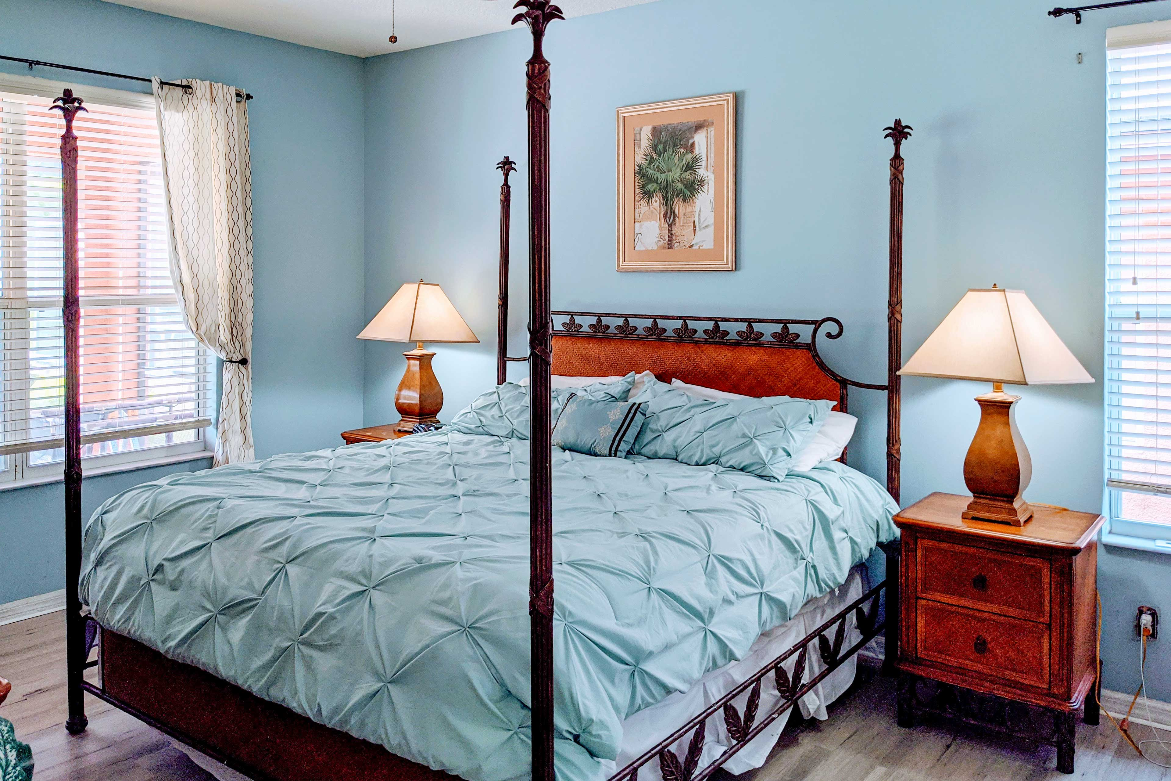 The master bedroom is great for couples!