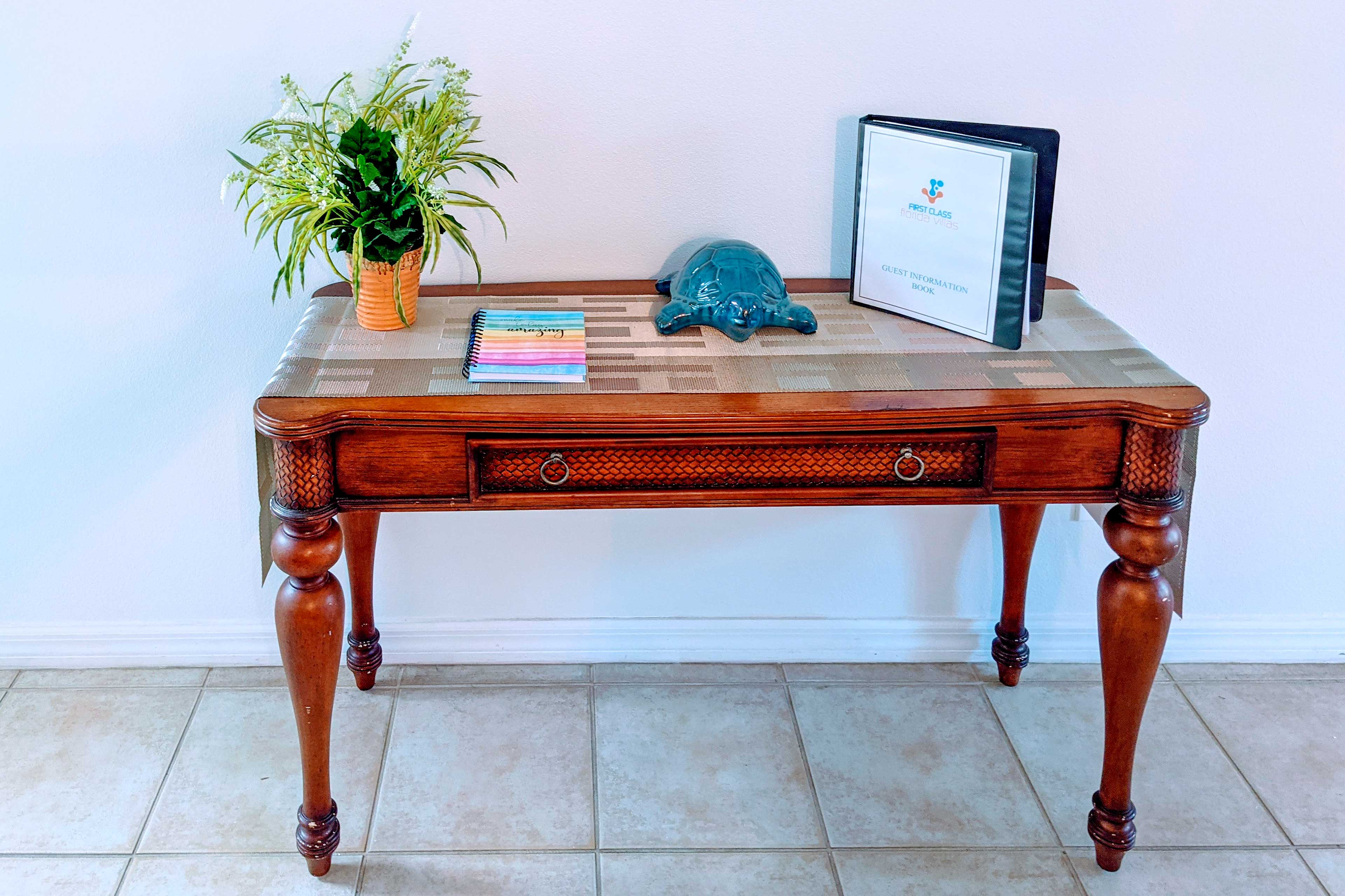 Entryway   Welcome Book
