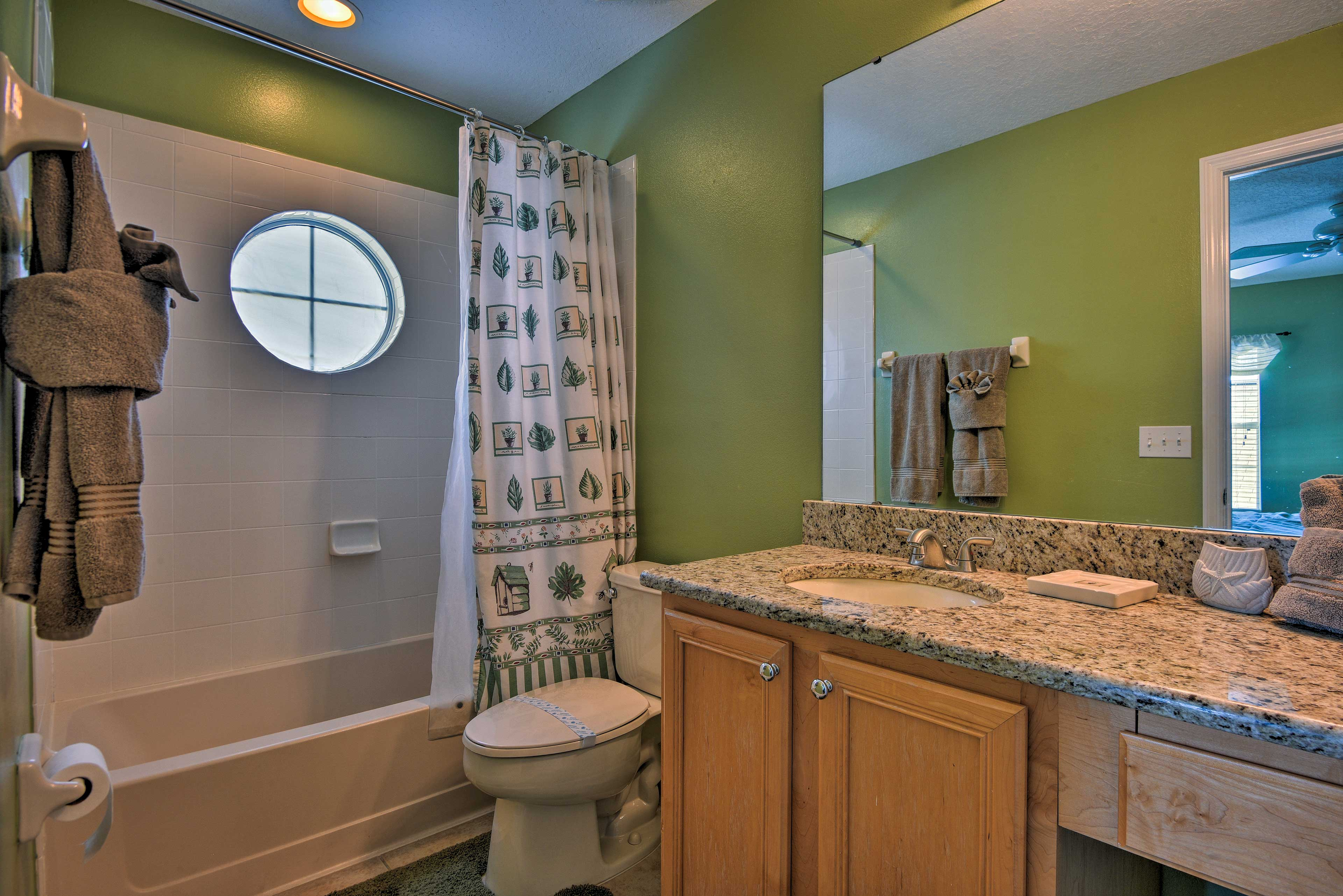 The home offers 6 bathrooms for guests to use.