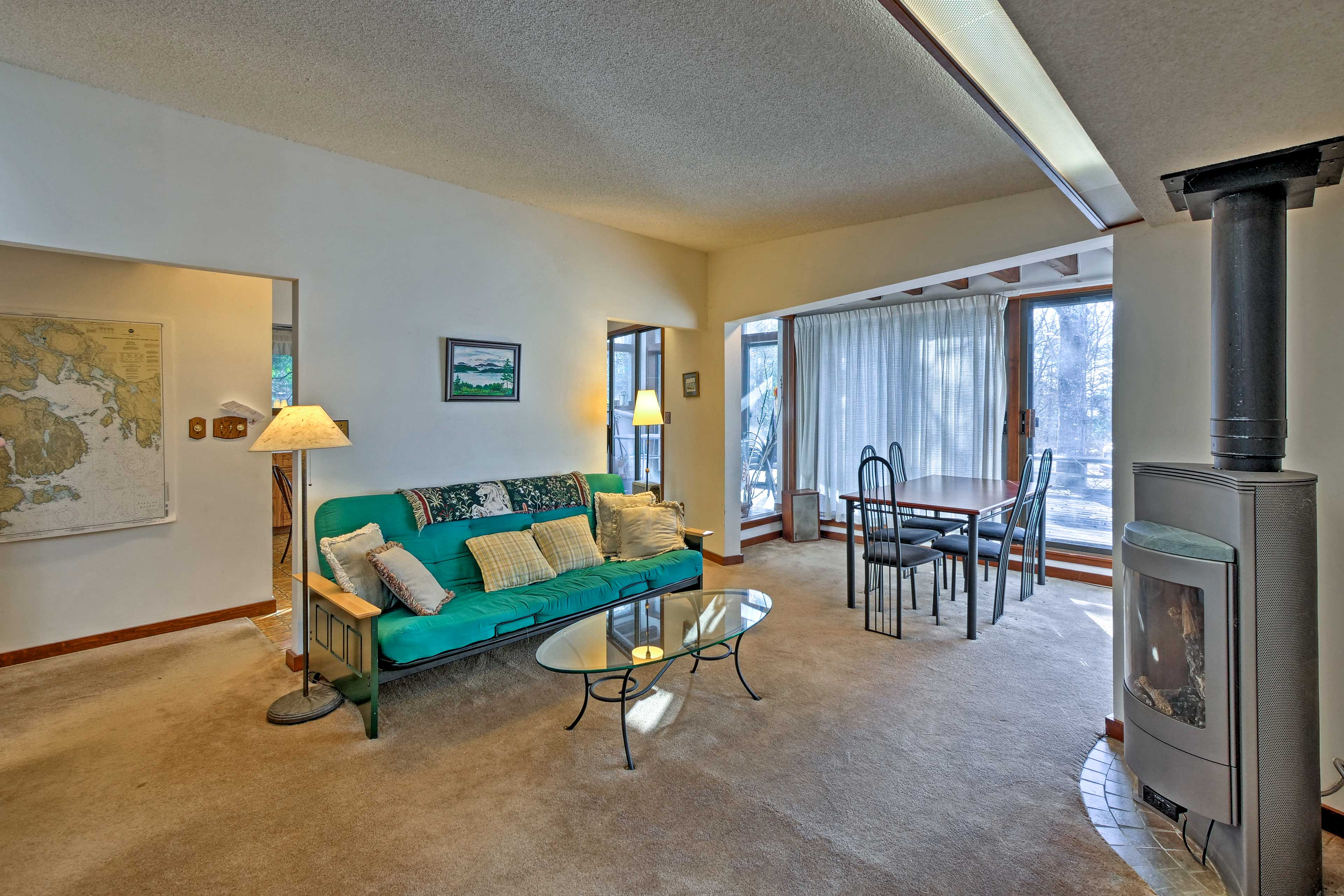 The living room is sure to be a frequented gathering area.