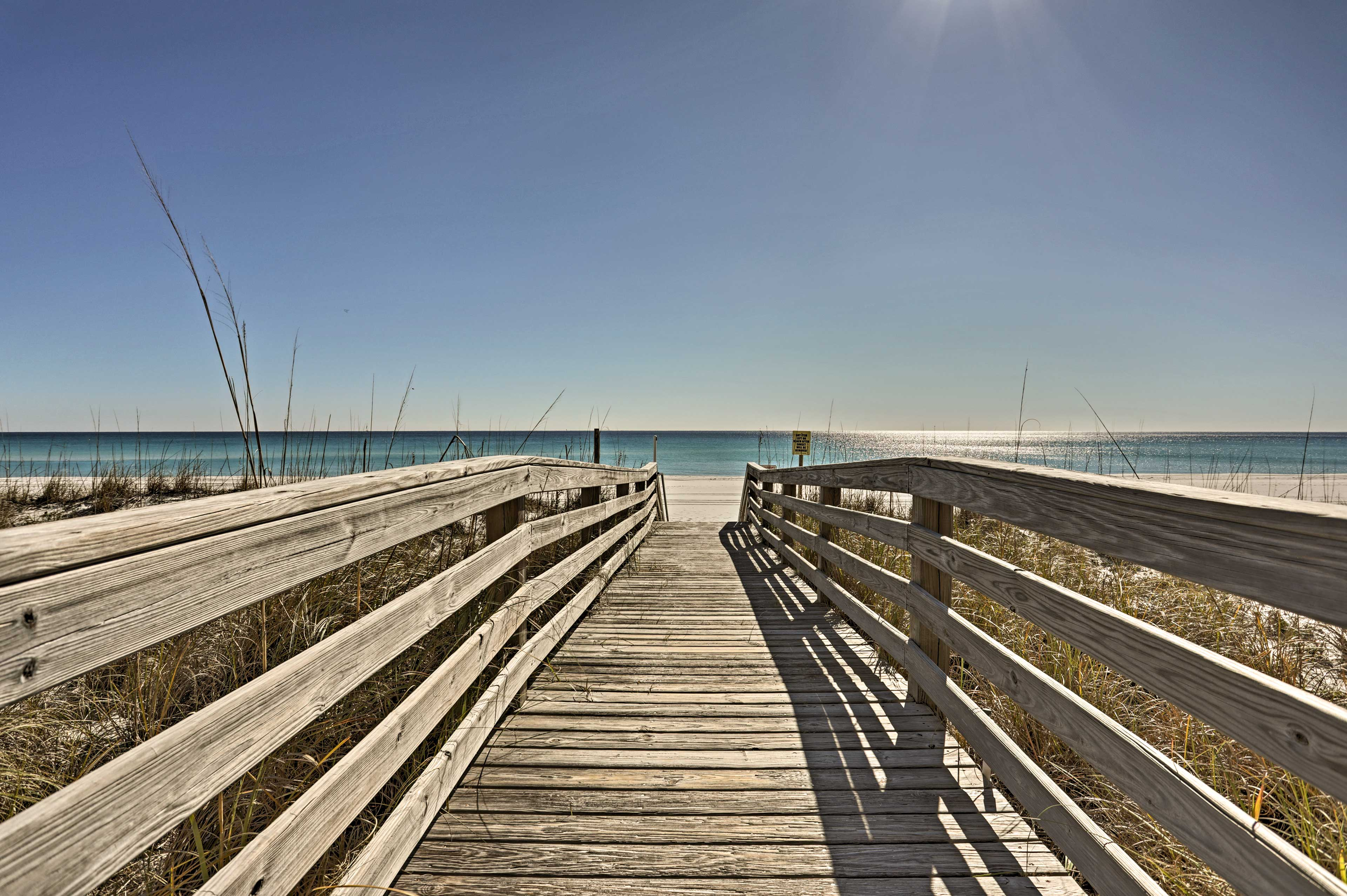 This Gulf front condo invites 4 guests for a perfect Pensacola Beach getaway.