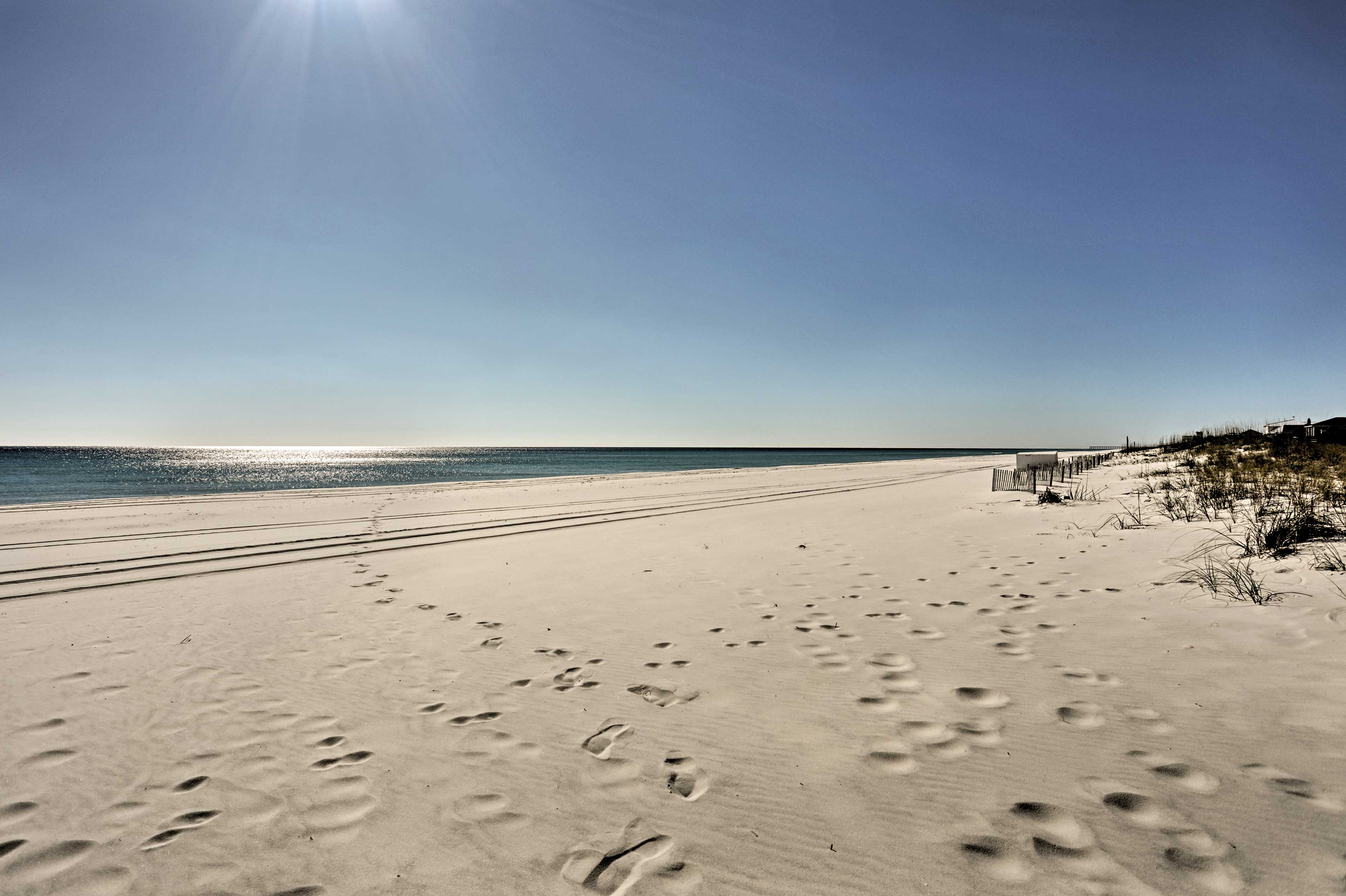 Pensacola Beach is known for its white sand beaches and warm Gulf waters!