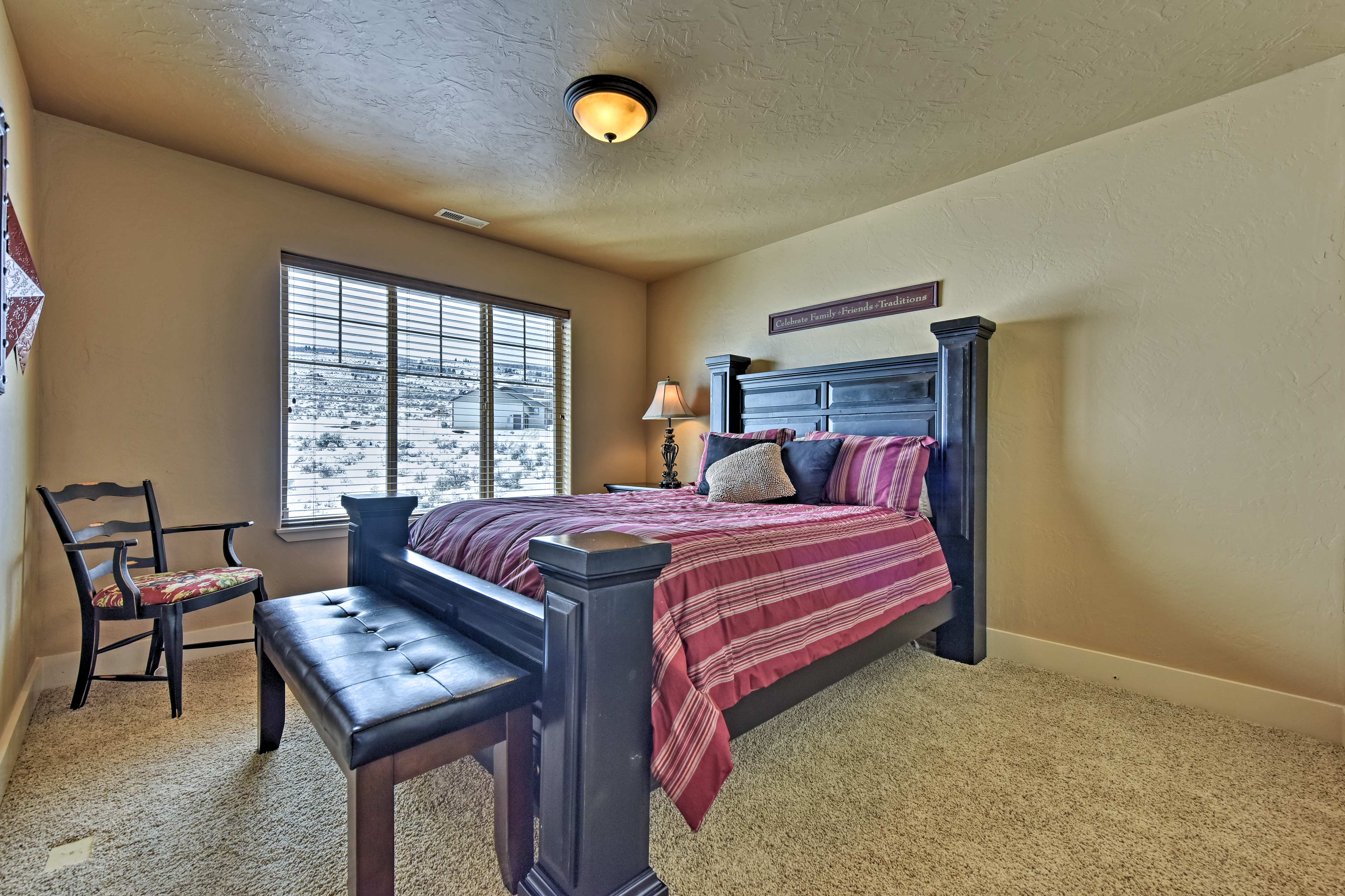 The third bedroom includes a queen bed.