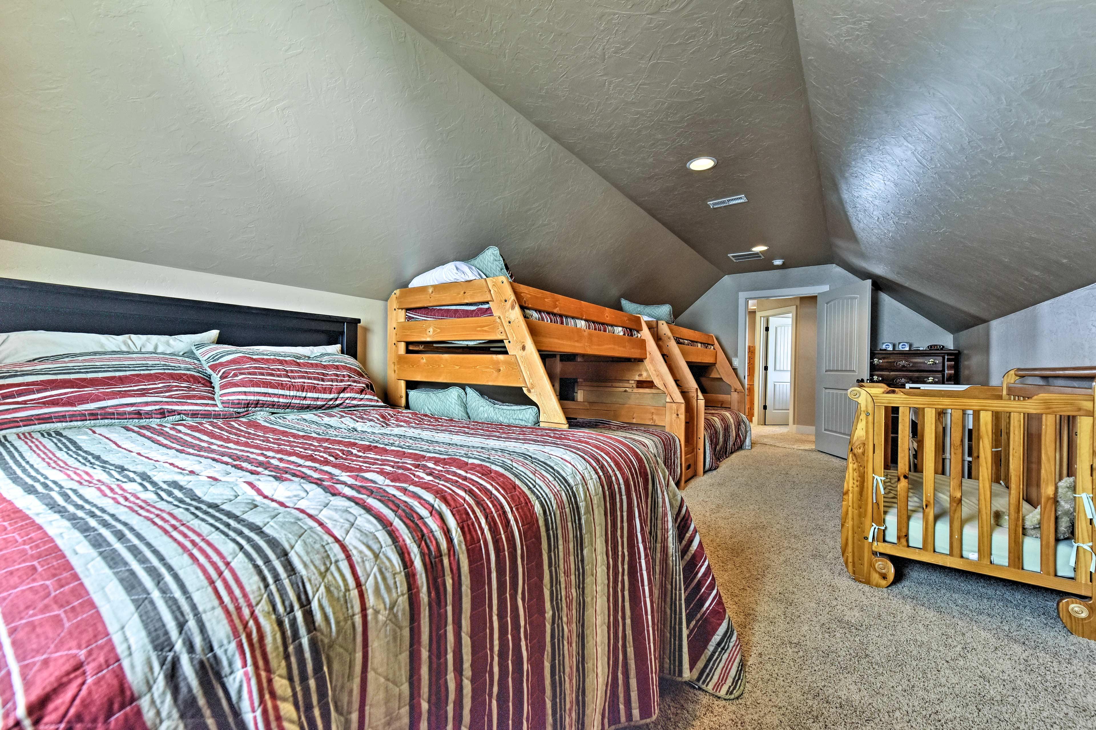 This big bedroom sleeps 10!