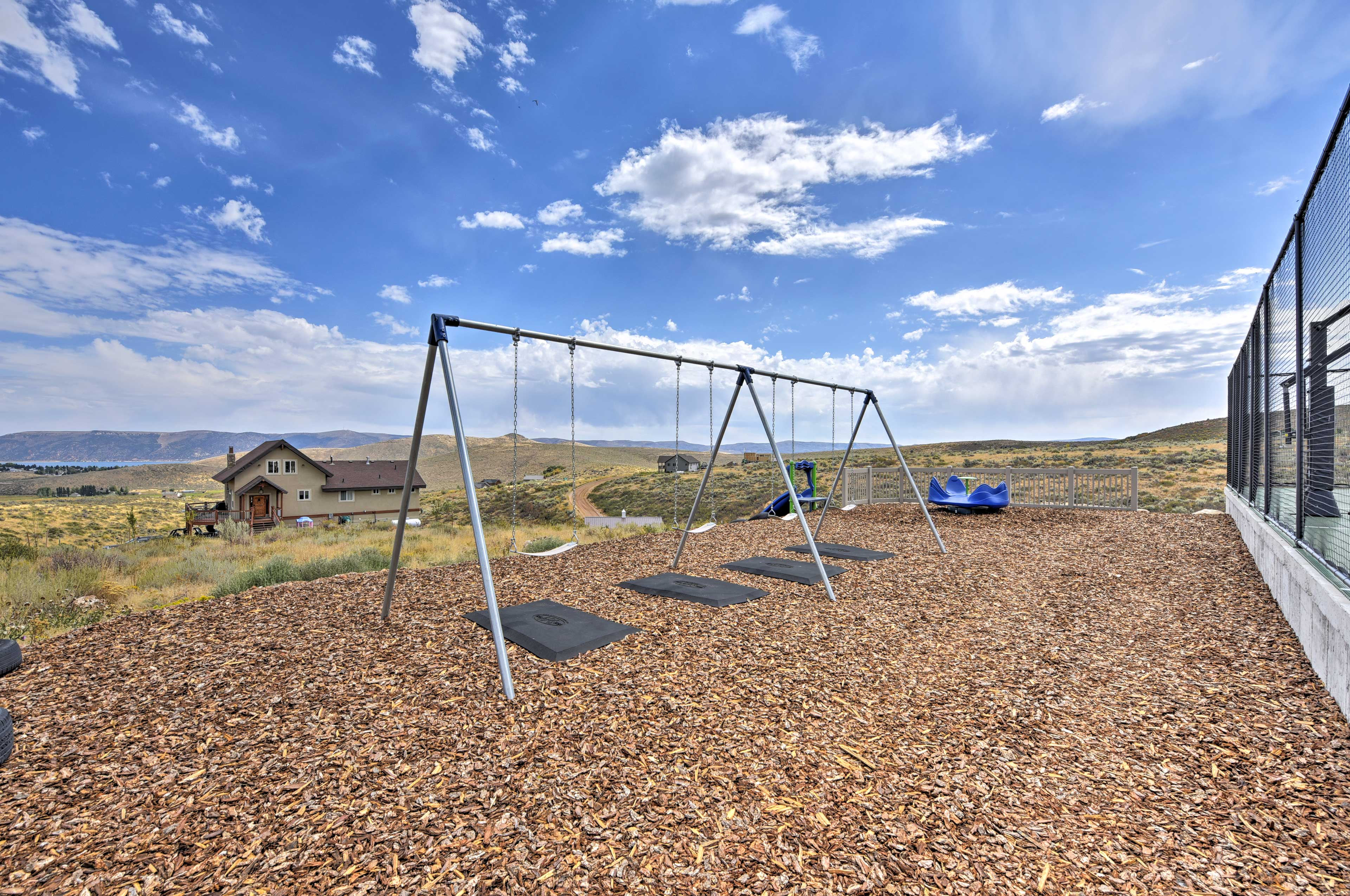 Let the kids have some fun in the playground.