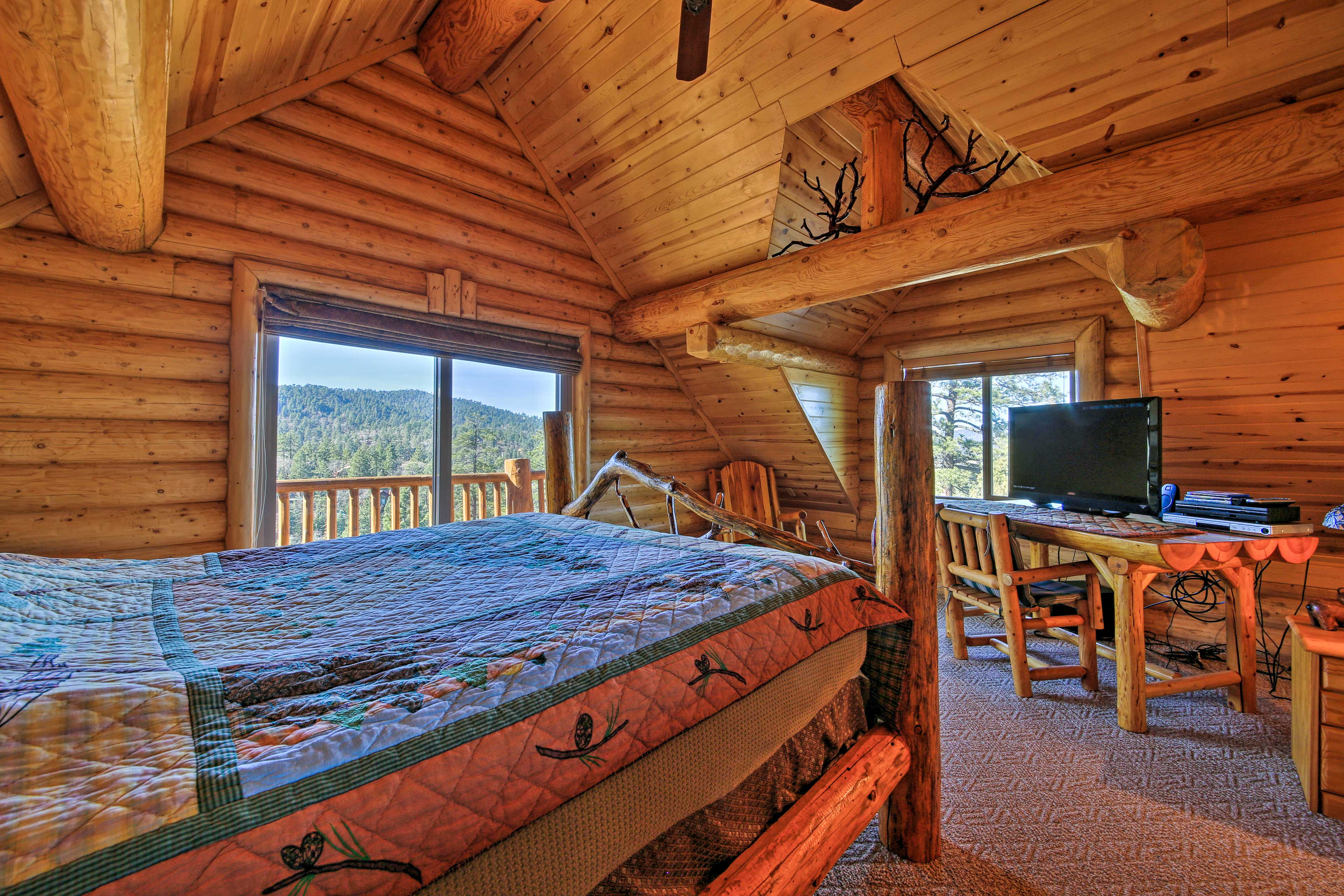 Each bedroom contains a comfortable queen-sized bed.