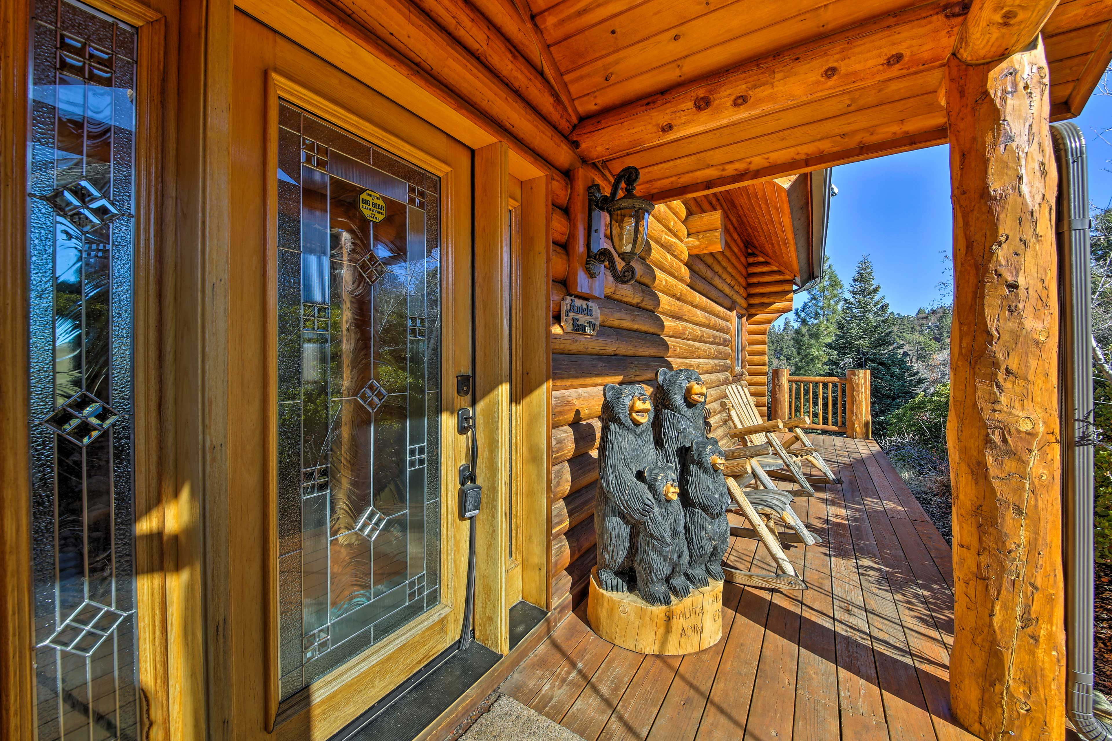 The property is a welcome rustic retreat.