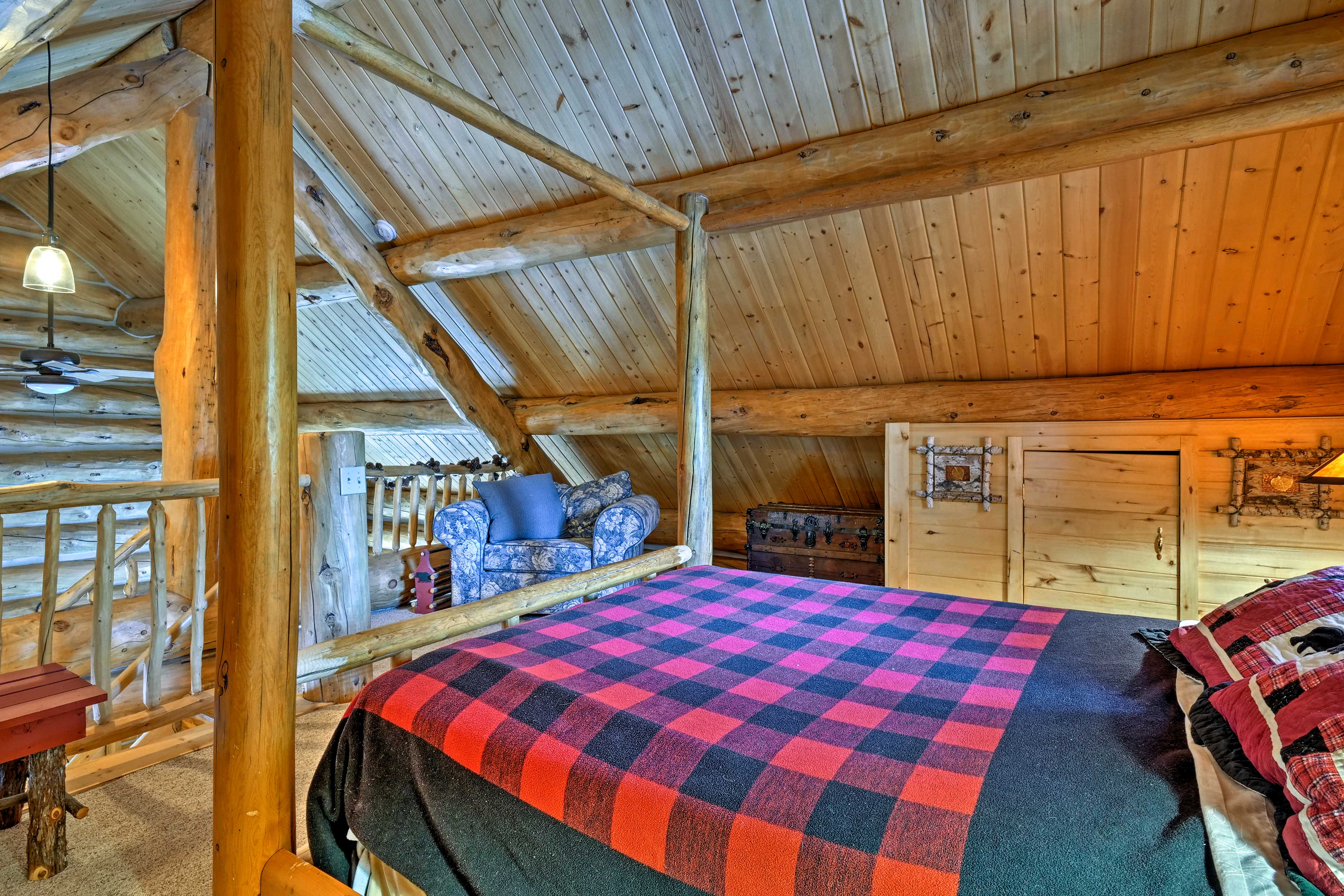 You're ensured a great night on the queen bed in the loft.
