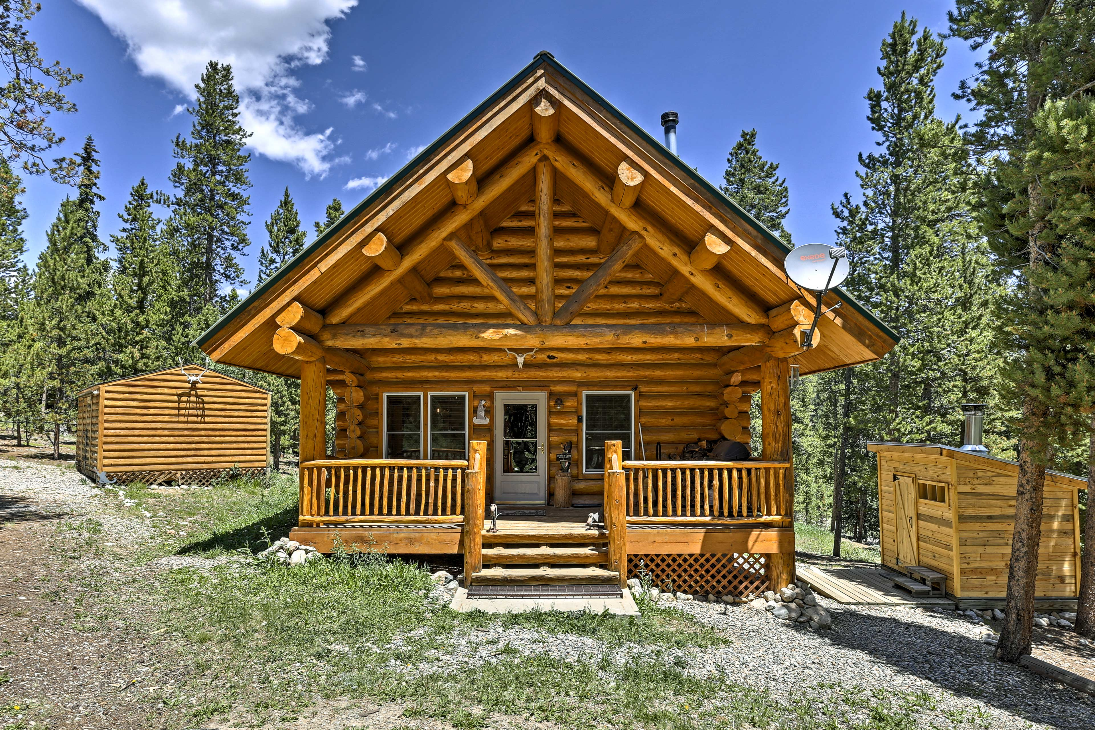 Escape to the mountains and stay at this charming vacation rental cabin!