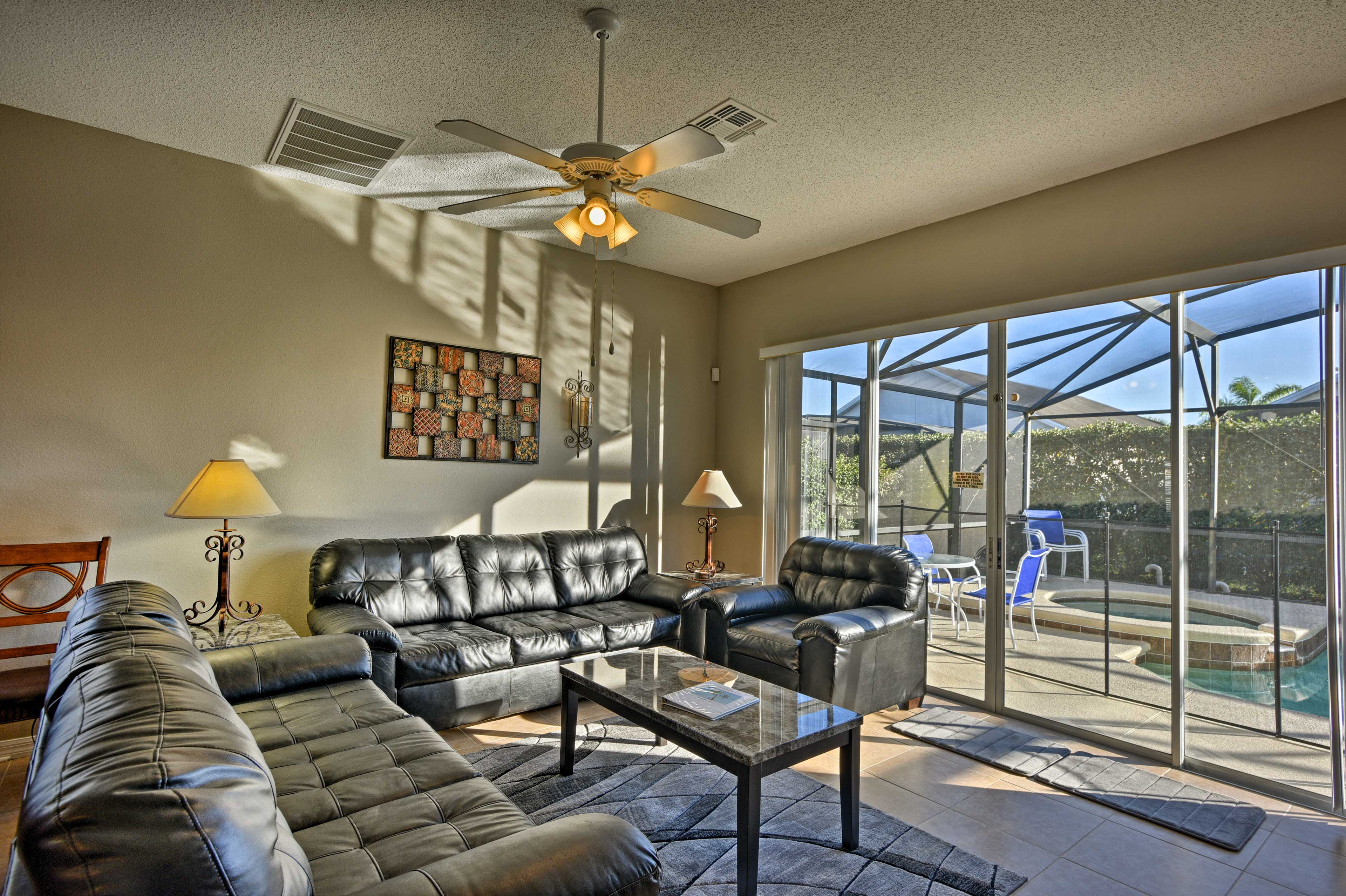 Find all your essential comforts in this open living area.