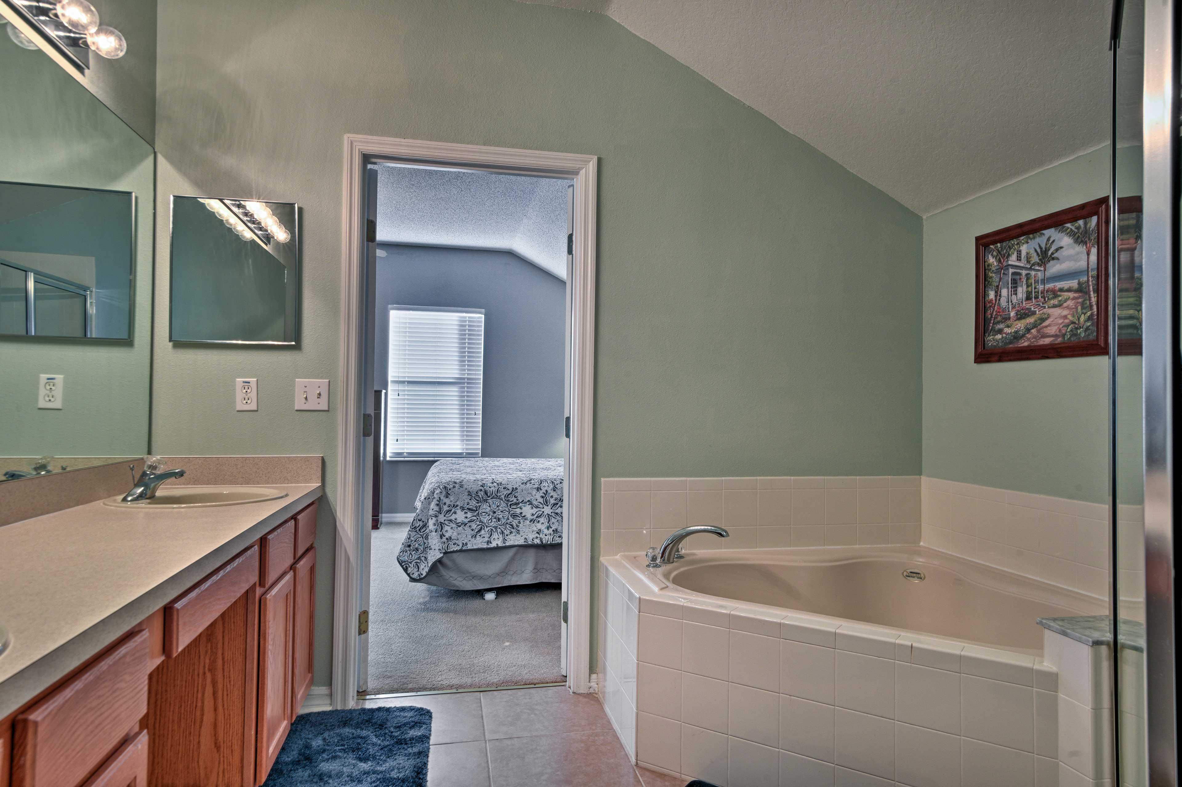 Soak your troubles away in the en-suite bathroom.