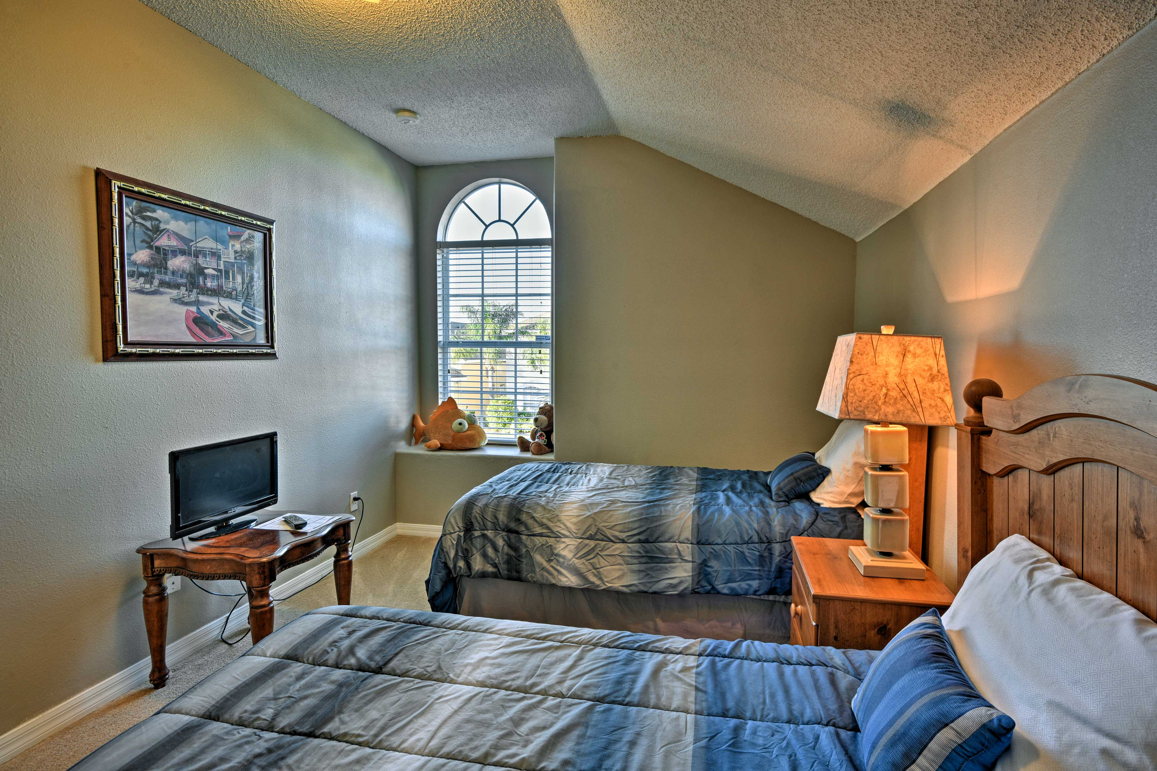 This fourth bedroom comes complete with 2 twin beds - perfect for the kids!