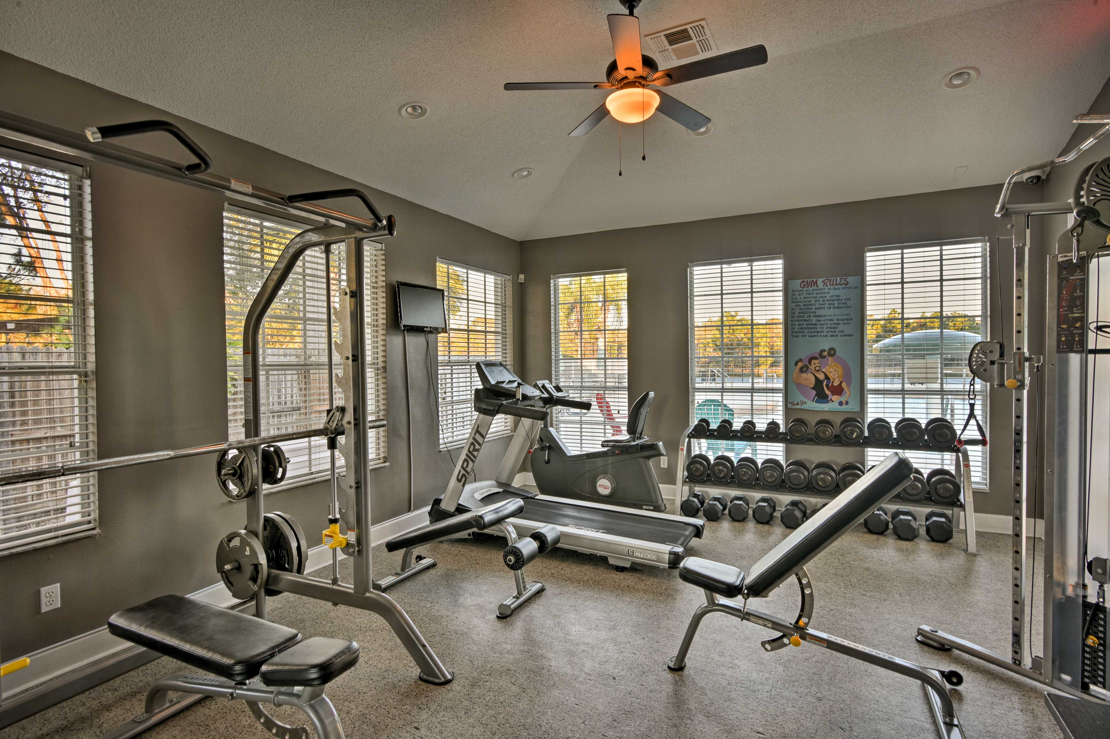 Utilize Glenbrook Resort's gym to stay on top of your fitness goals.