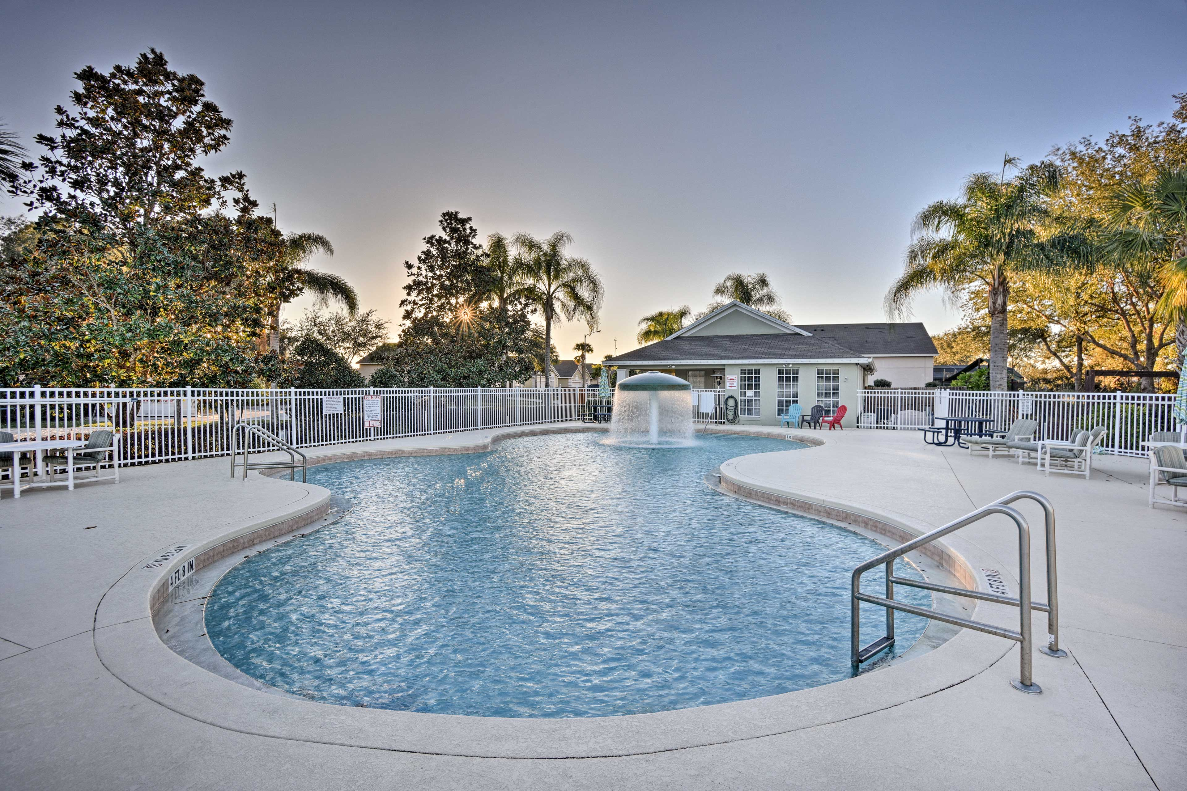 You'll also have access to this pristine swimming pool at the clubhouse.