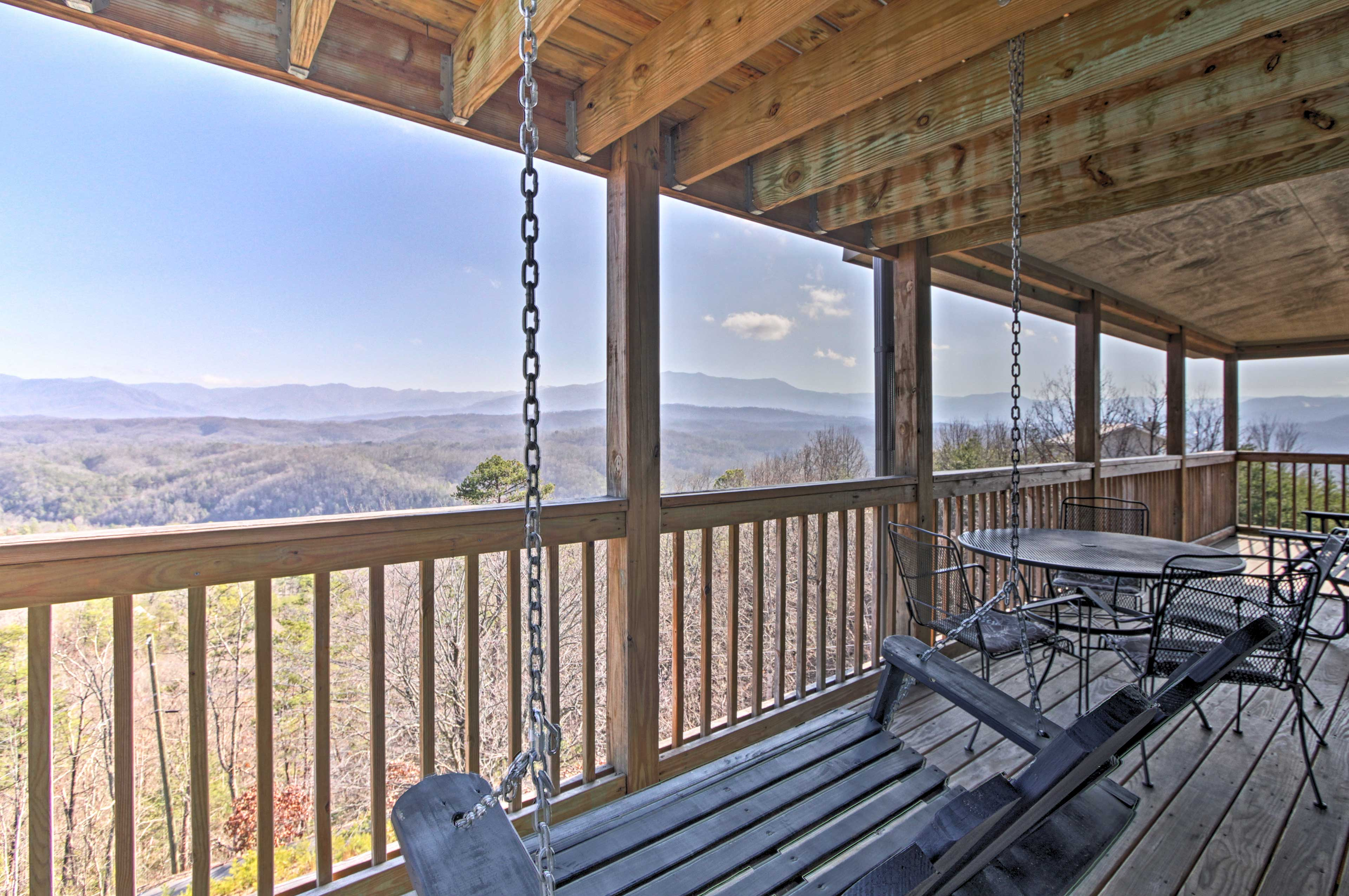 Sip your morning coffee while looking out to sweeping mountain views!