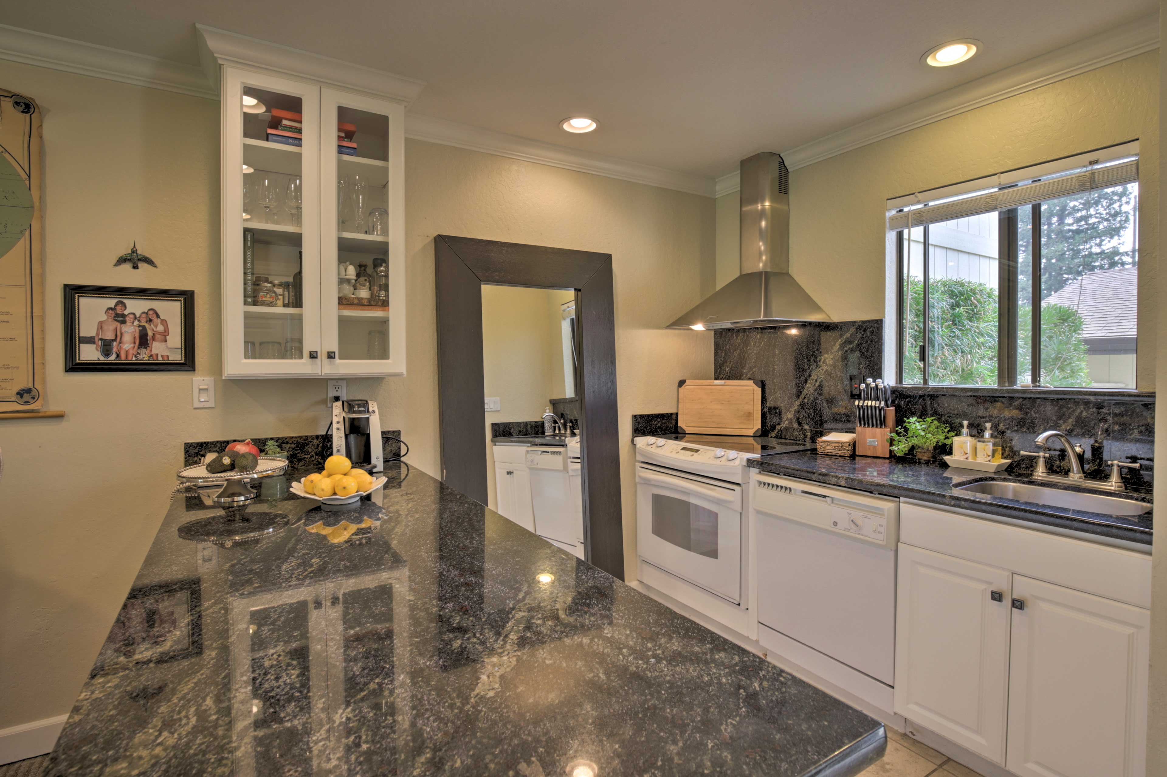 The kitchen offers basic cooking needs ensuring home-cooked meals are a breeze.