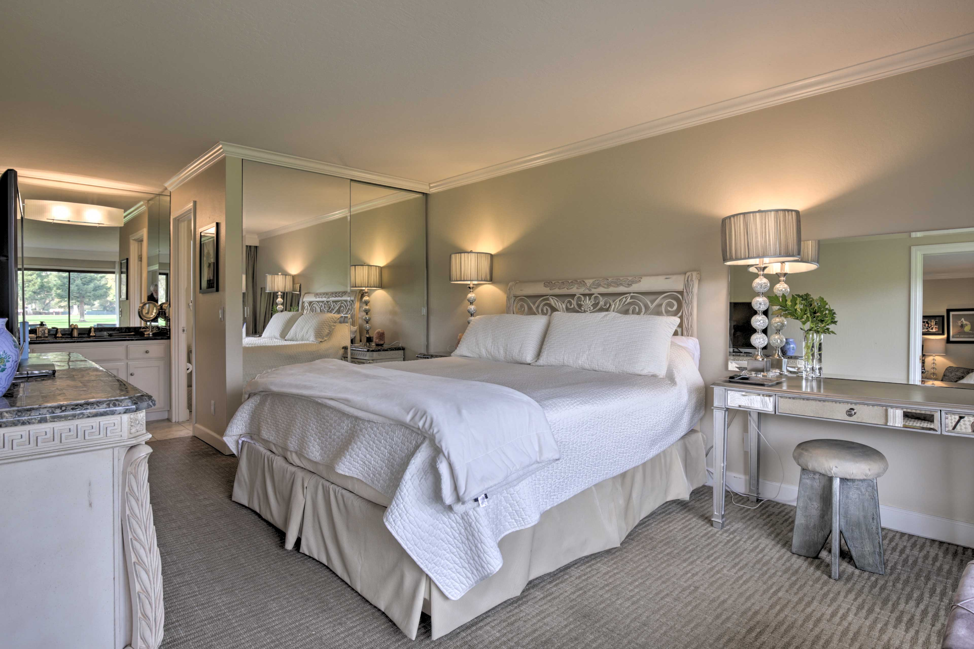 This luxe unit is perfect for a couple's retreat.
