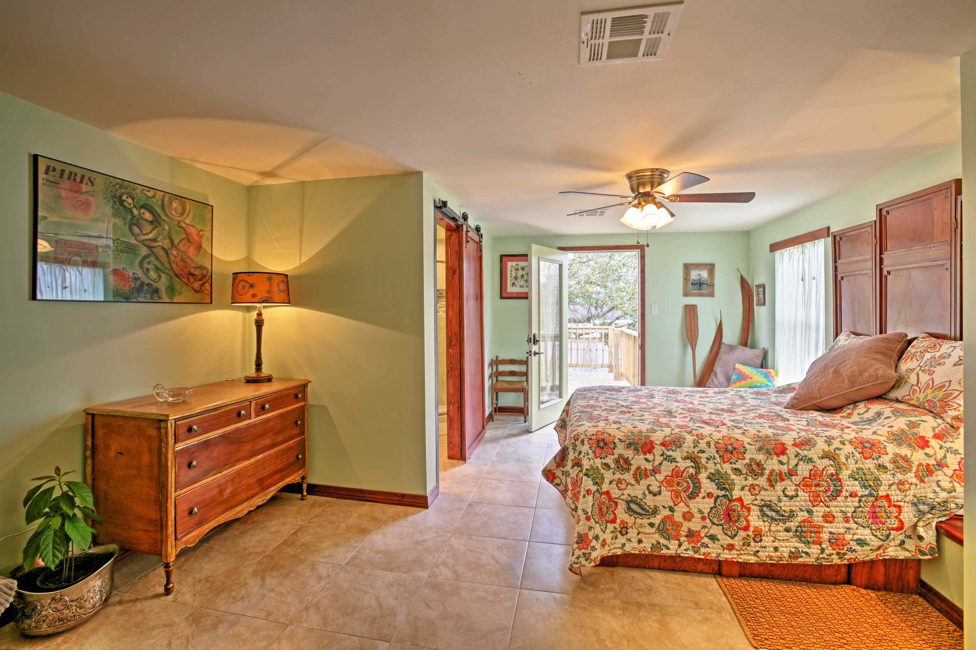This spacious room, perfect for couples and has access to an outdoor balcony.