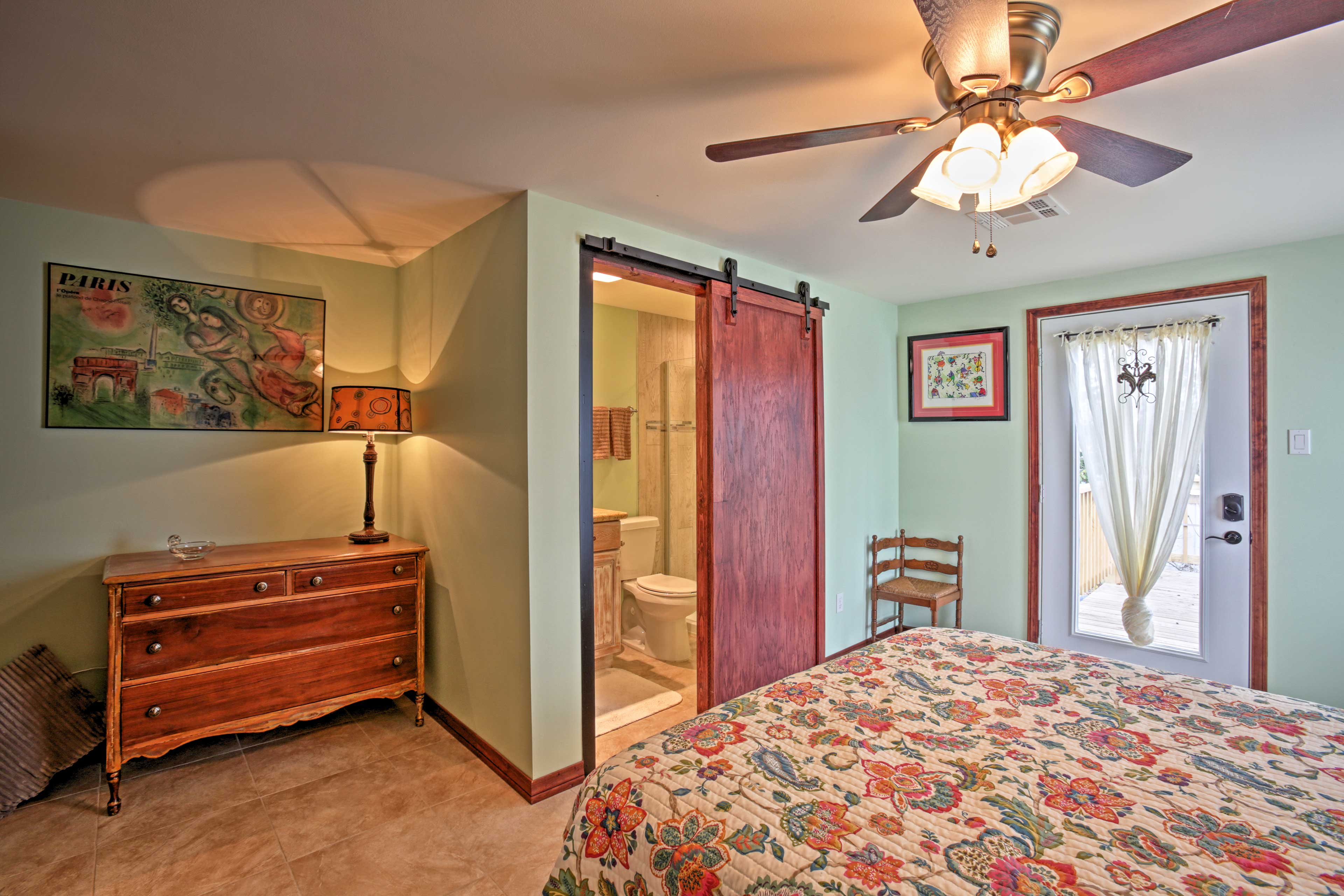 With an en-suite bathroom, the master bedroom feels like a luxury hotel suite.