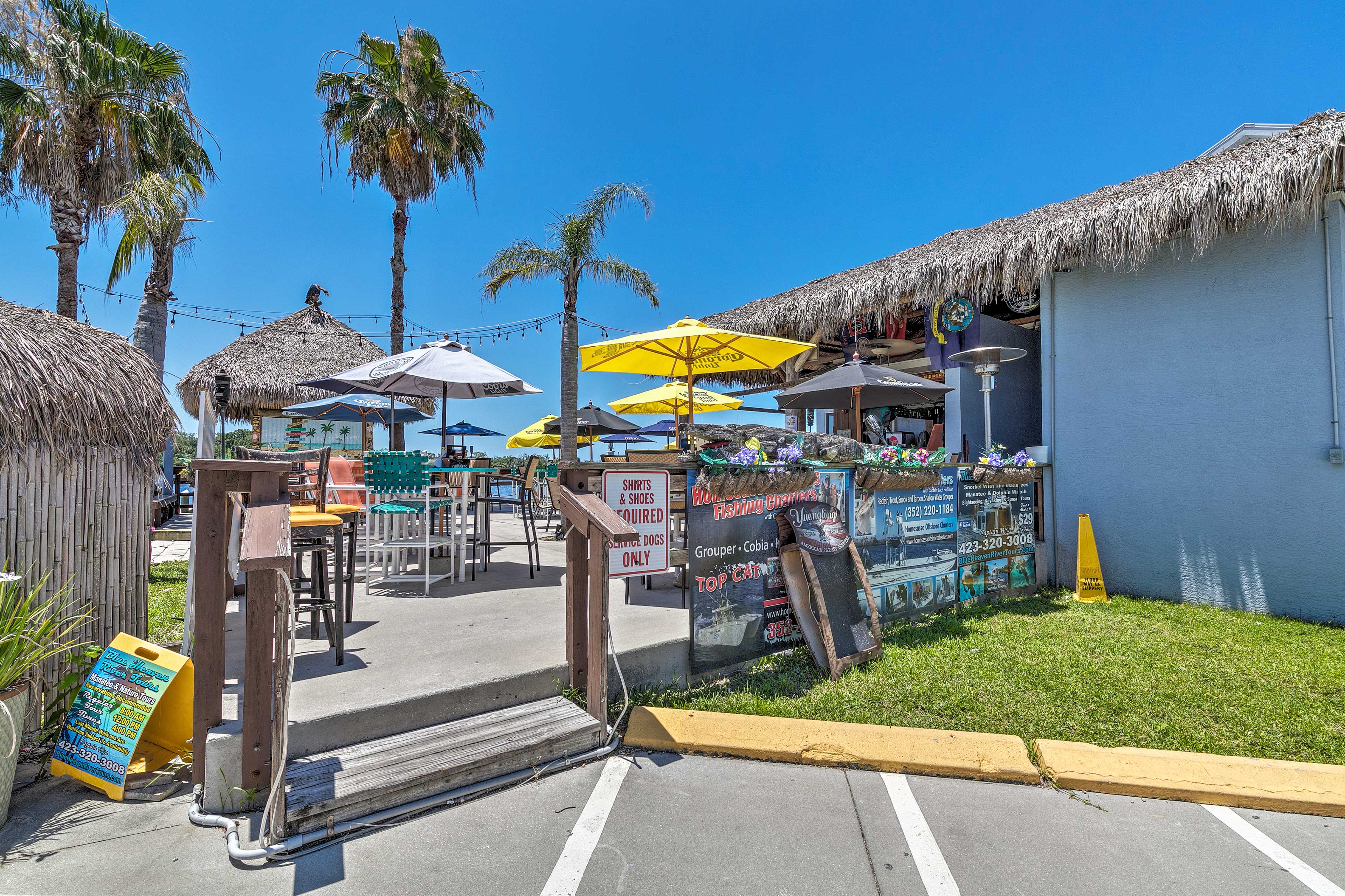Stroll over to SeaGrass Waterfront Tiki Bar!