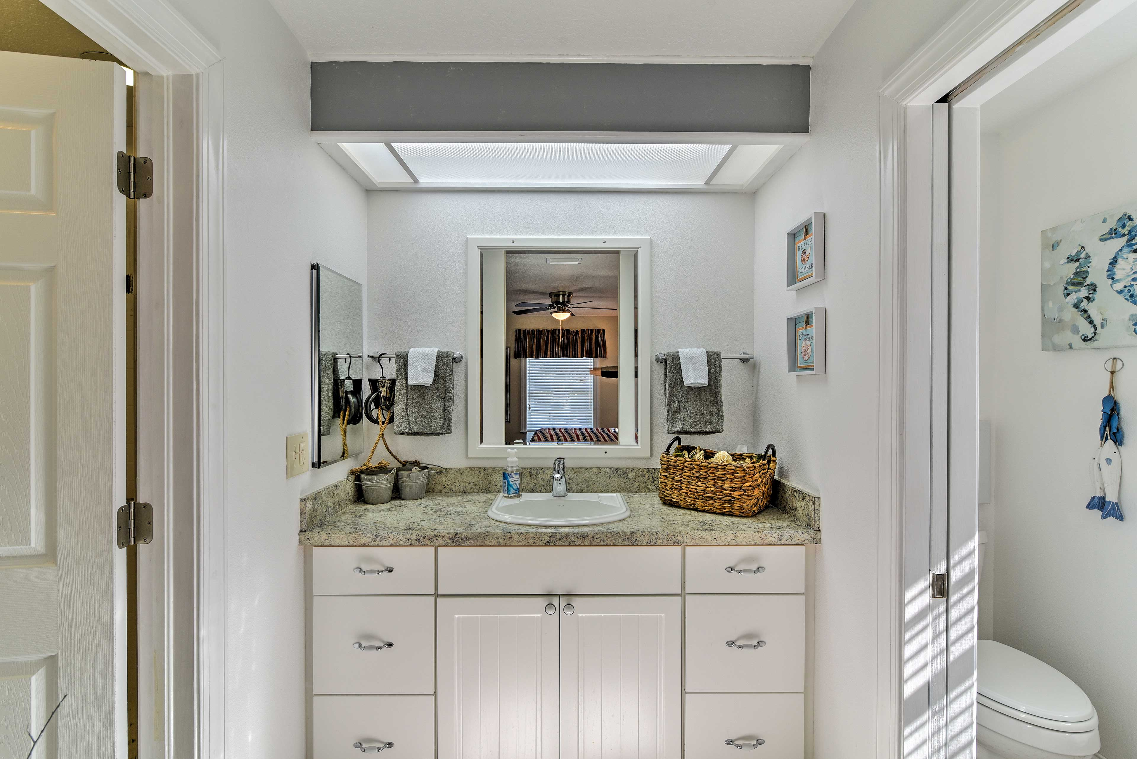 Wash off in privacy with the en-suite bathroom.