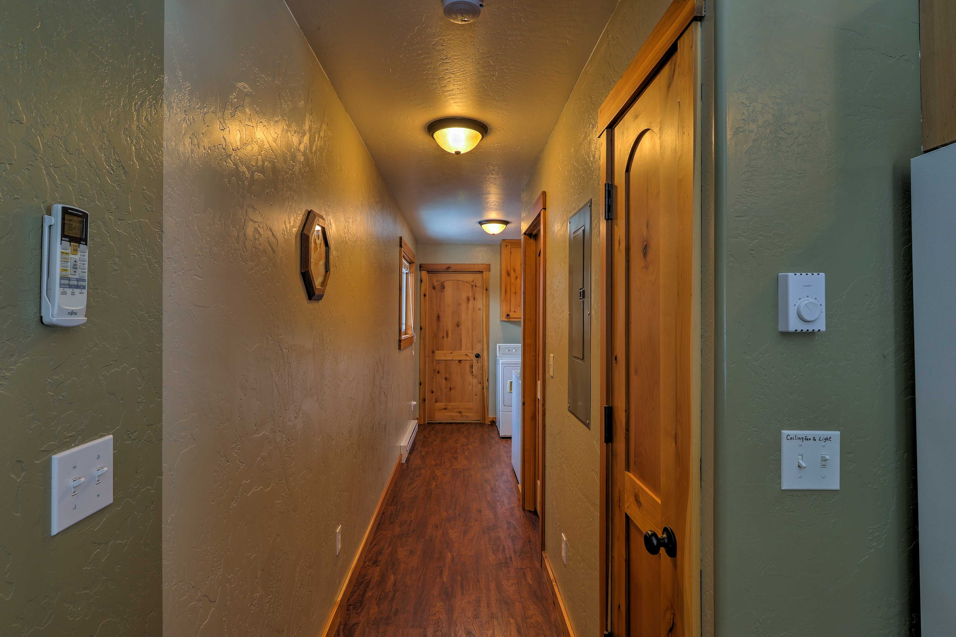 Head down the hall to find the bedrooms!