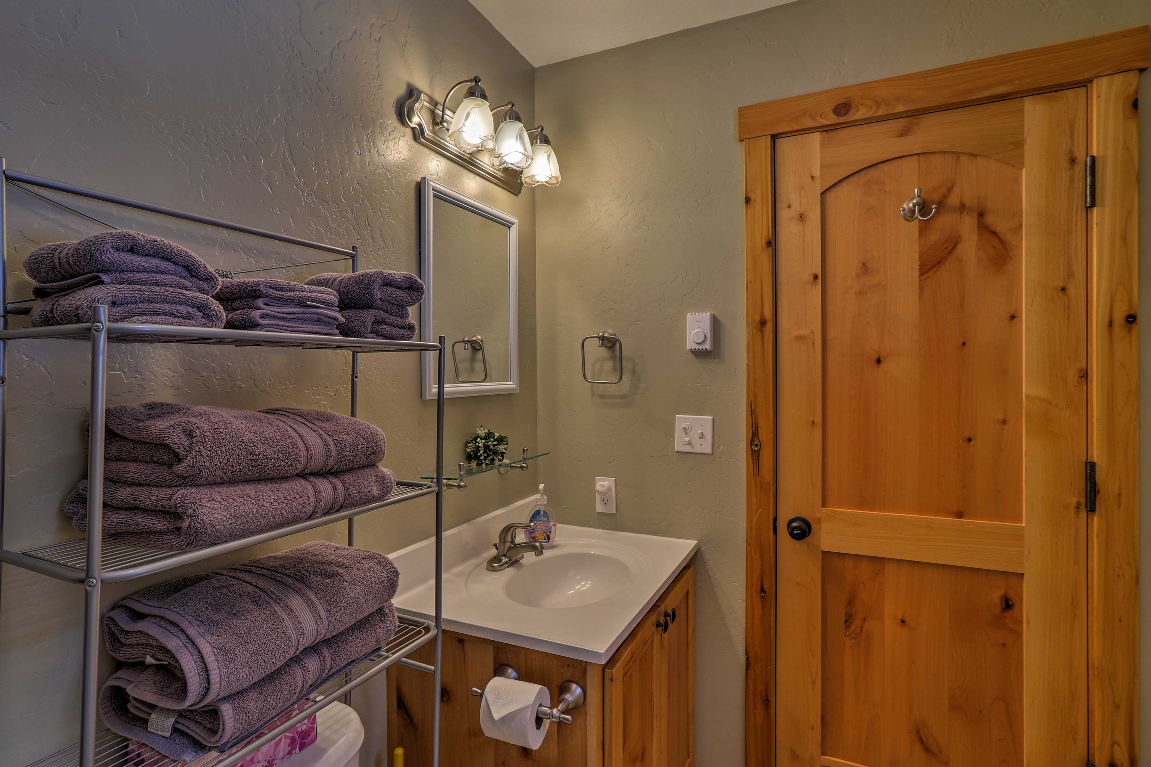 You'll have plenty of space to freshen up in the mornings.