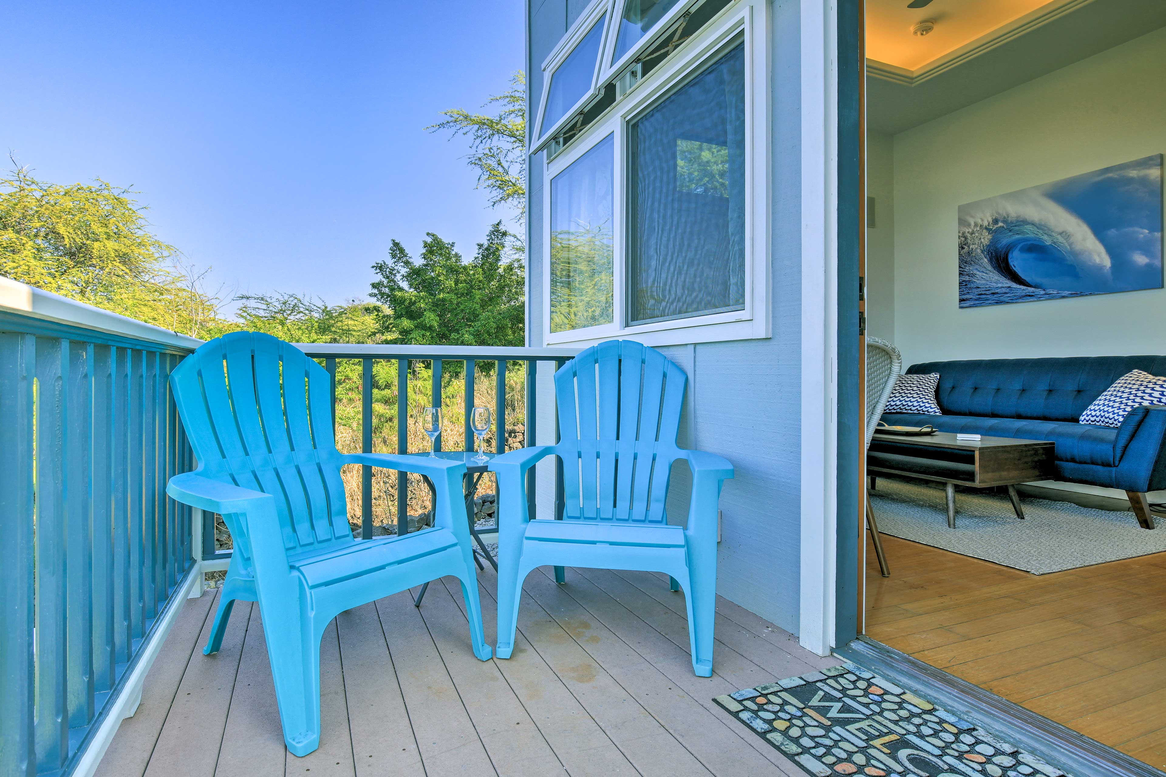 Enjoy the island breeze from the private ocean-facing patio.