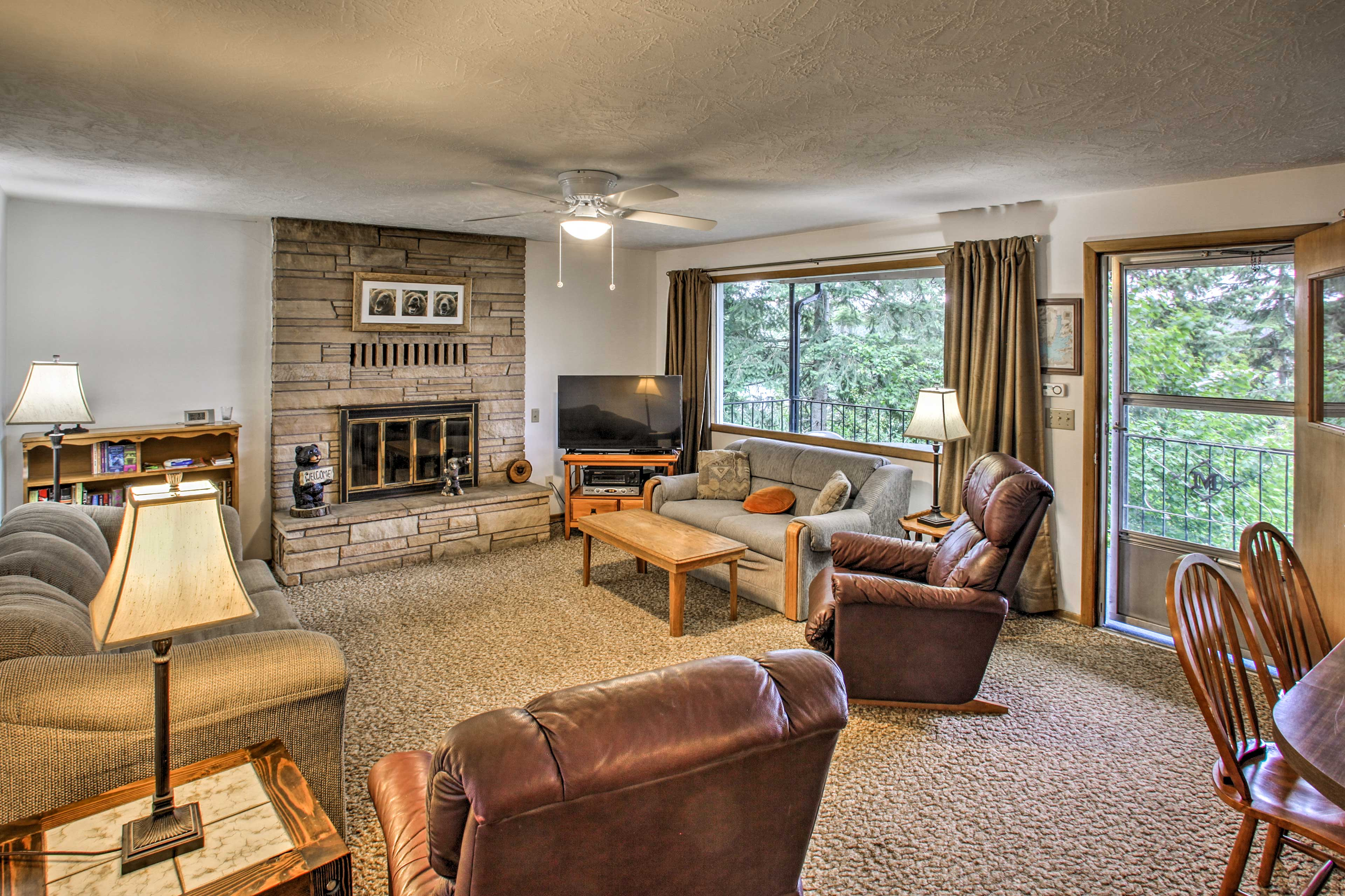 Located on Hayden Lake, this home features 3 bedrooms and 2 bathrooms.